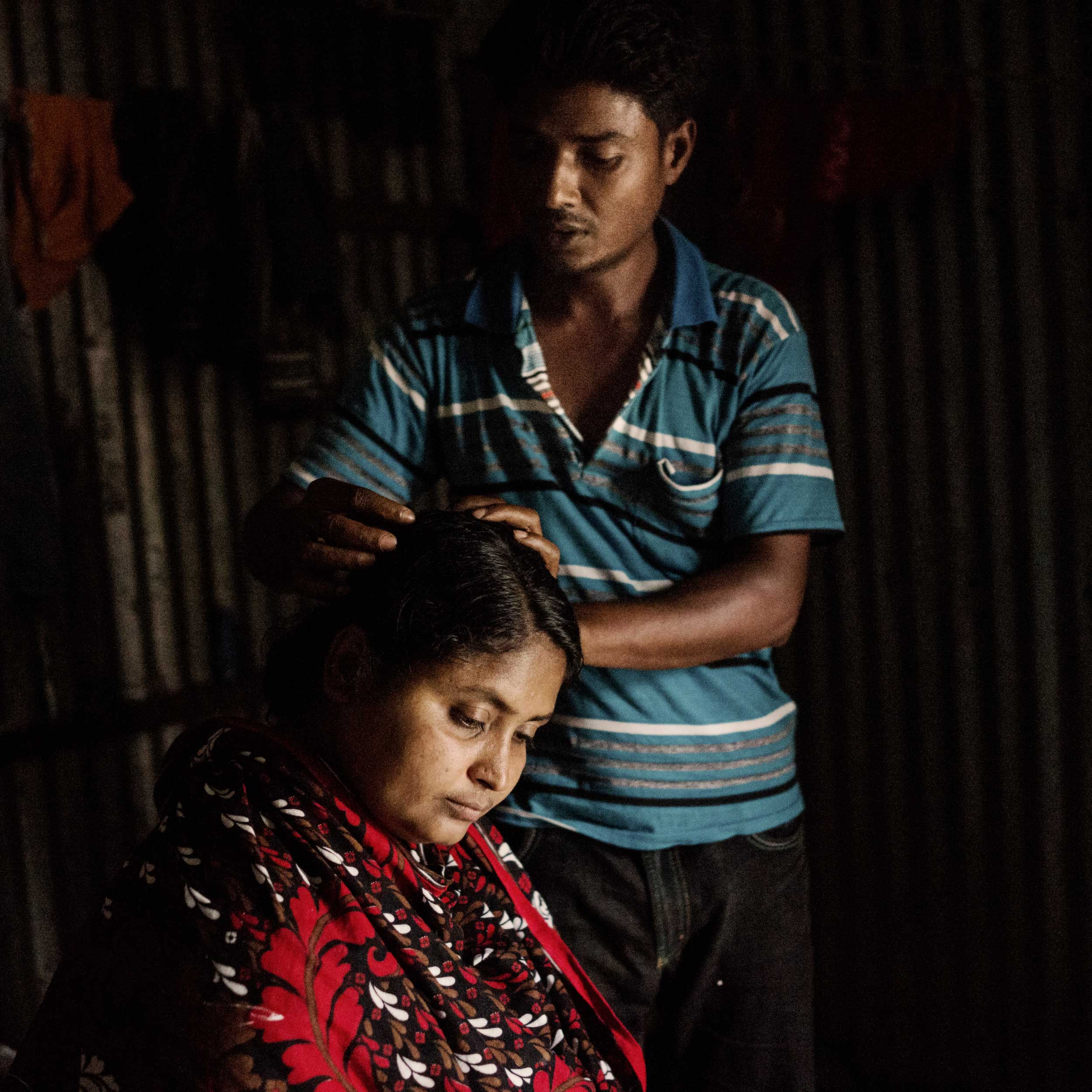 Mominul Islam and his wife Sharvanu, who was seriously injured in the collapse of the Rana Plaza garment factory.