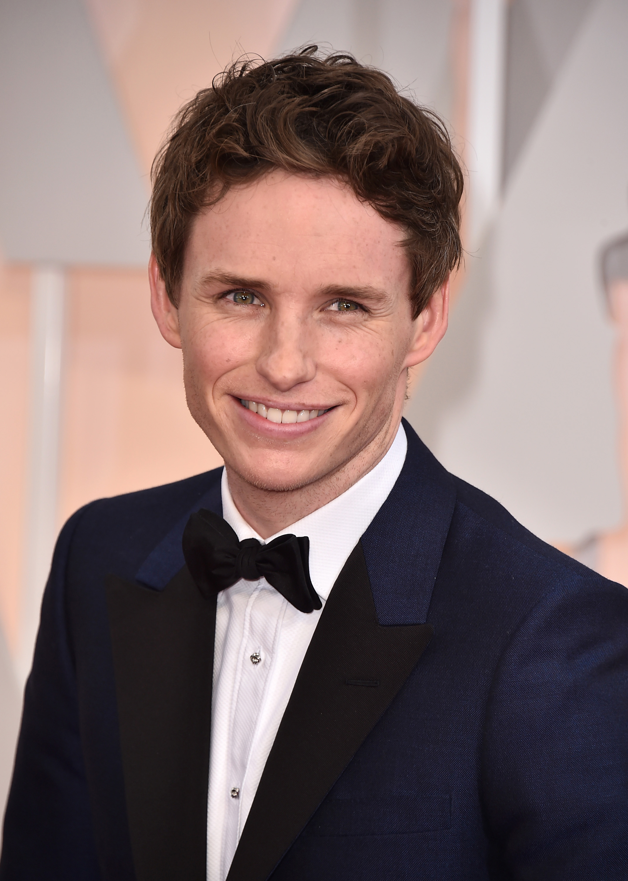 Eddie Redmayne arrives at the Oscars on Sunday, Feb. 22, 2015, at the Dolby Theatre in Los Angeles.