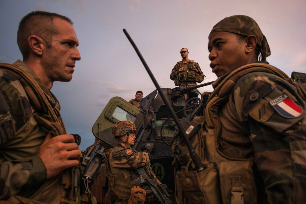 French Foreign Legion soldiers are preparing for a long patrol in the east of Central African Republic on Aug. 20, 2014.