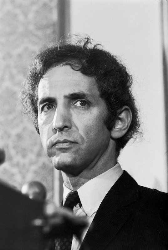 Daniel Ellsberg, who leaked the Pentagon Papers to the media, at a press conference in July of 1971