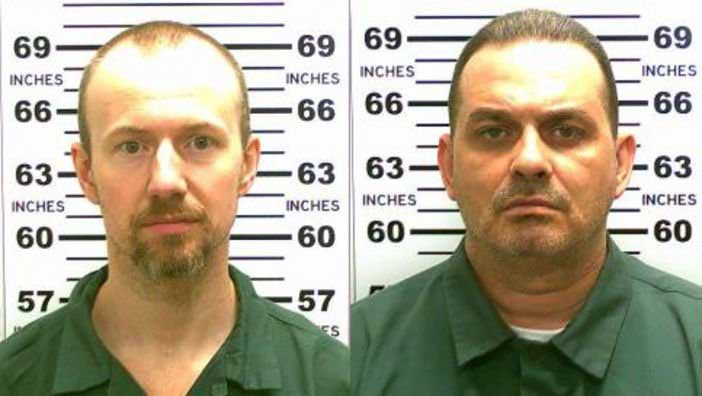 Convicted murderers David Sweat (L) and Richard Matt are shown in this composite image.