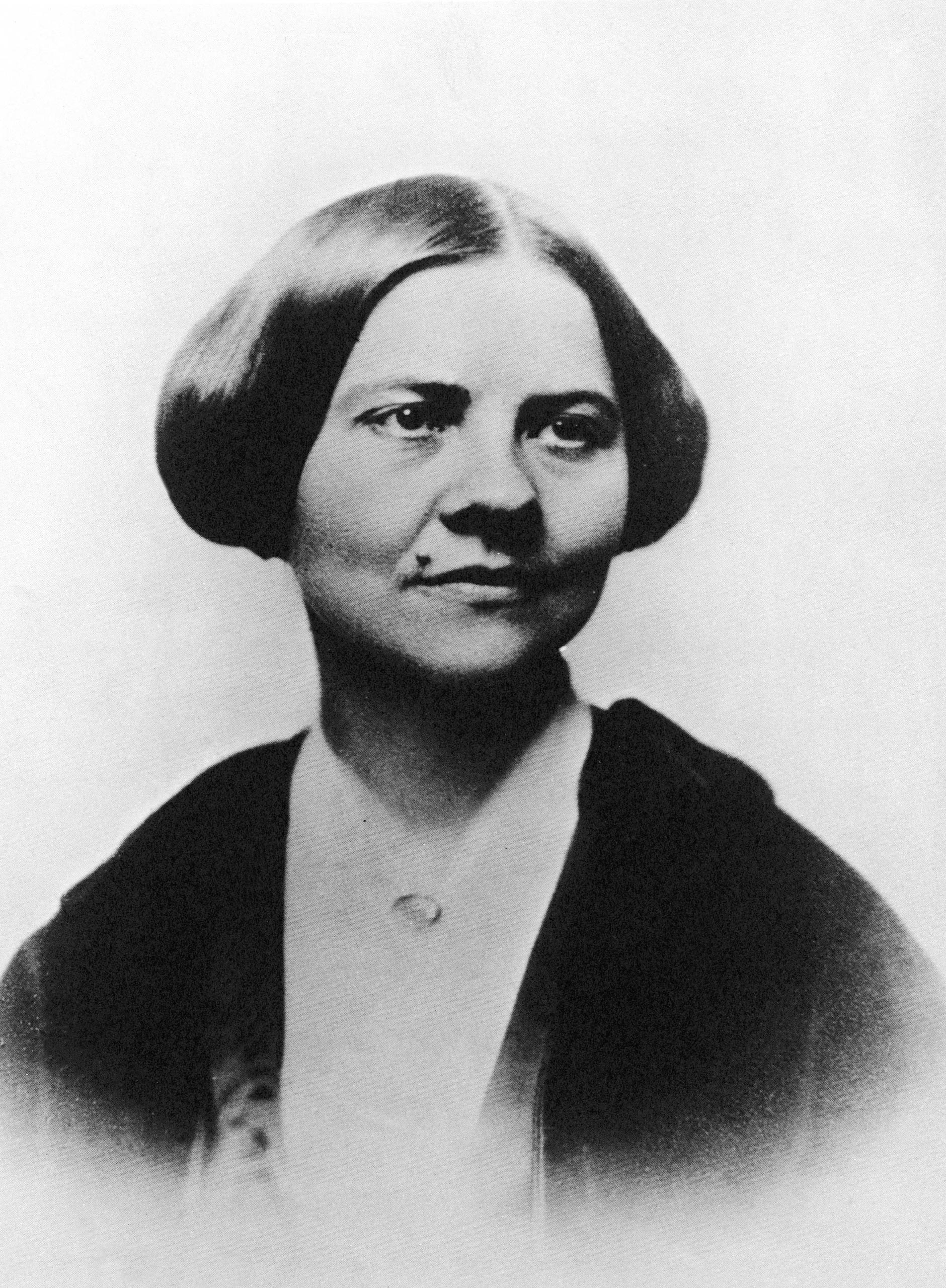 Portrait of American abolitionist and women's rights activist Lucy Stone.