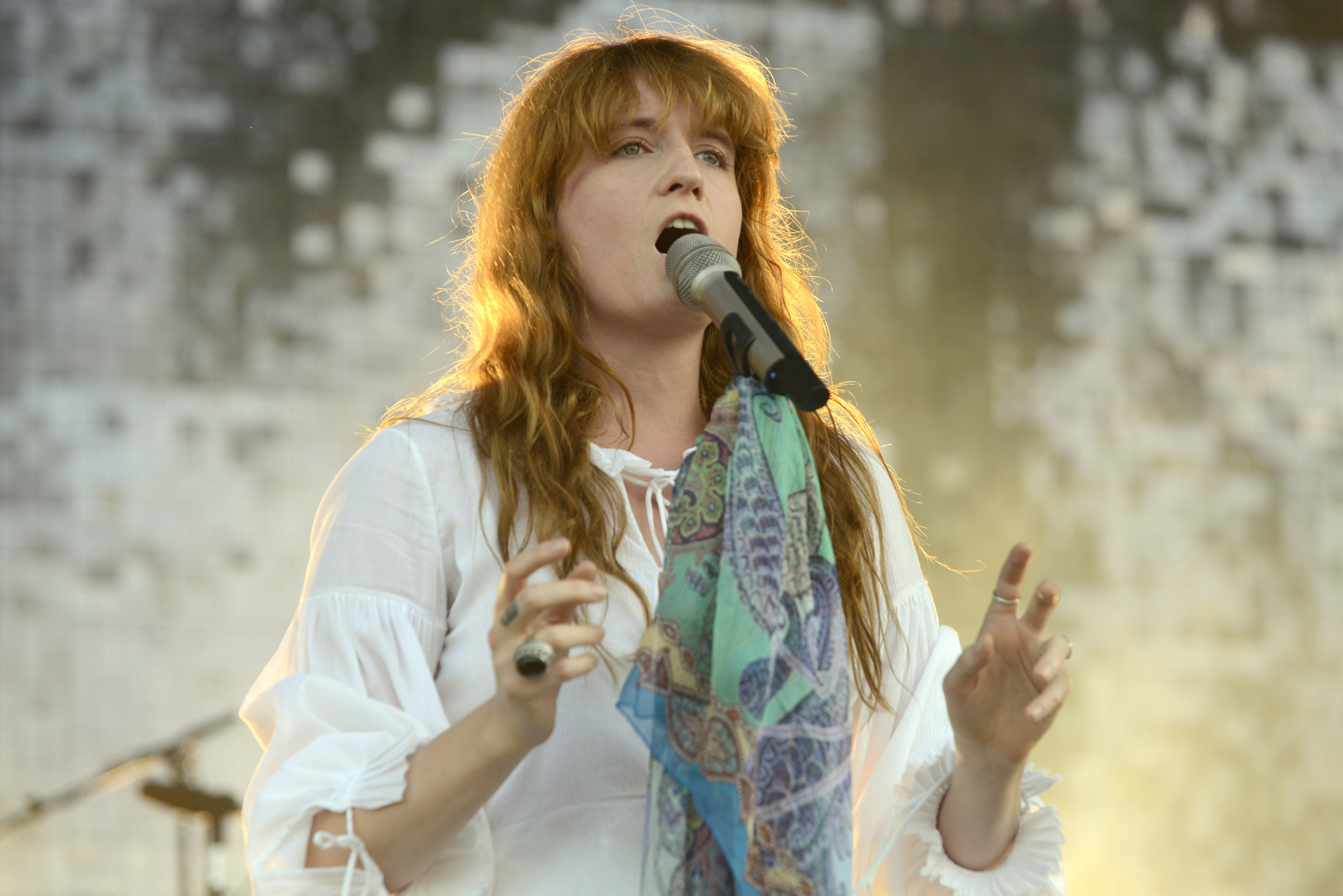 Florence Welch performs during the 2015 Bonnaroo Music & Arts Festival on June 14, 2015 in Manchester, Tennessee.