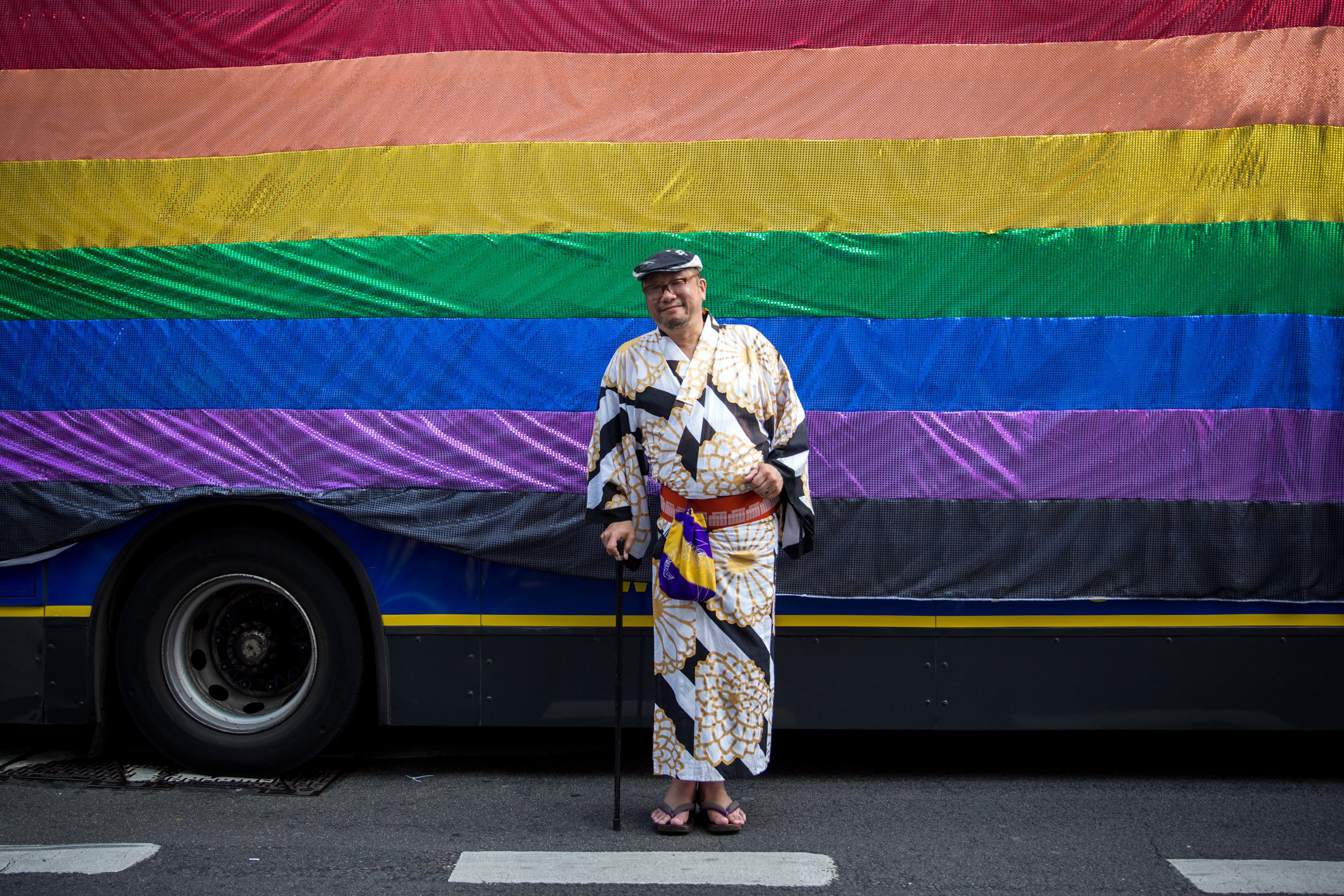 A reveler attends the annual Pride in London Parade on June 27, 2015 in London.