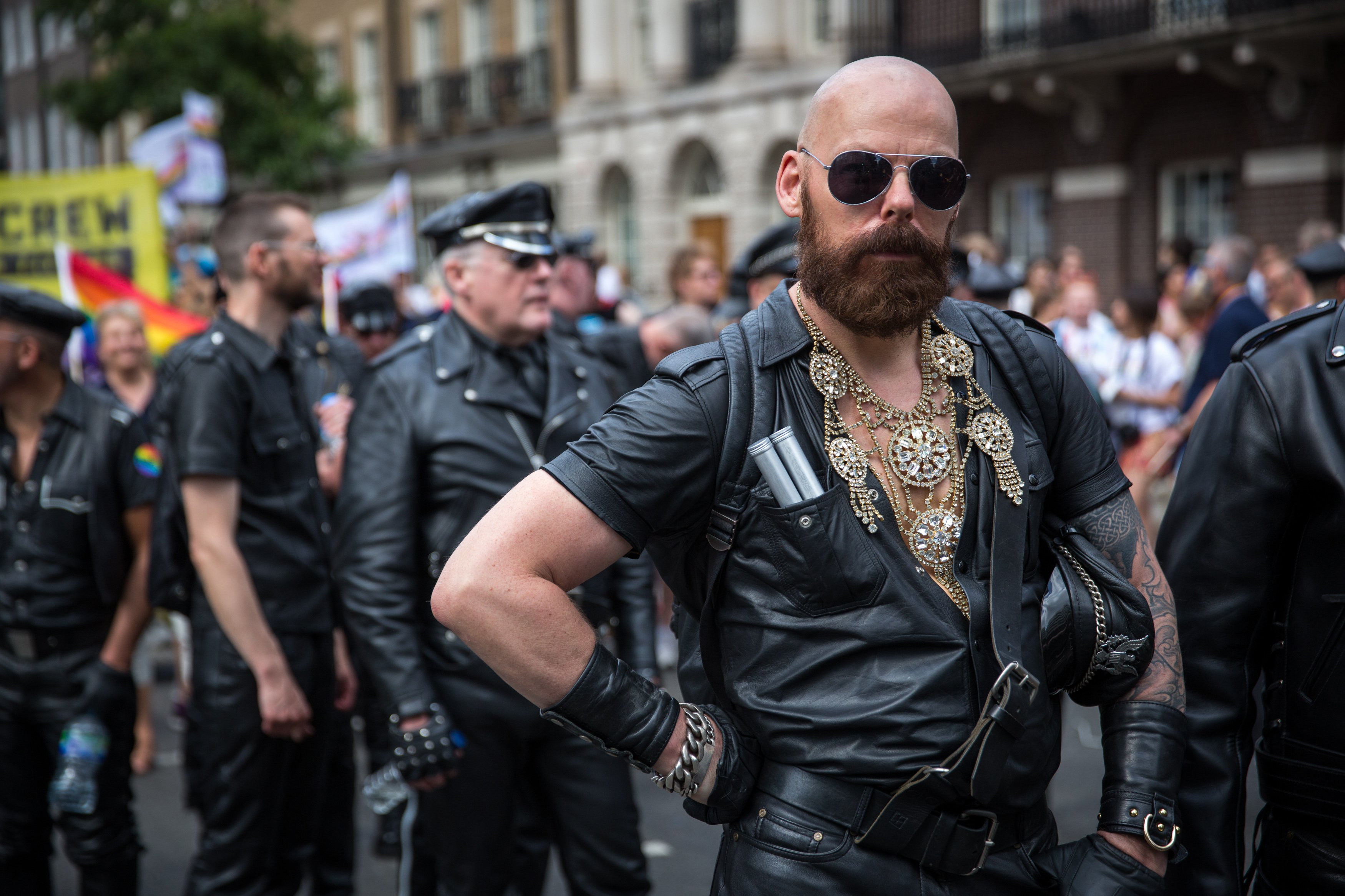 People take part in the annual Pride in London Parade on June 27, 2015 in London.