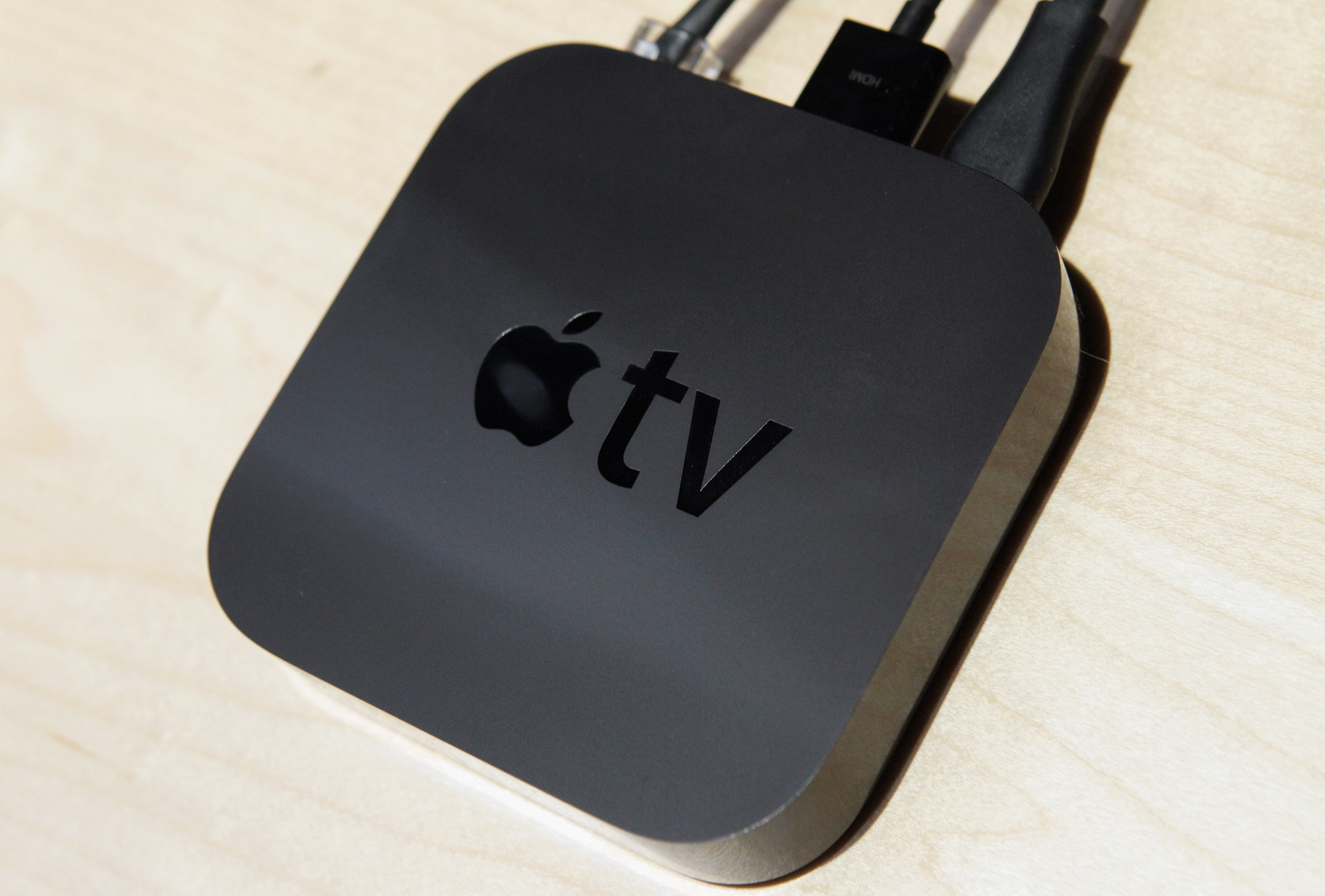 The new smaller version of Apple TV is displayed at an Apple Special Event at the Yerba Buena Center for the Arts September 1, 2010 in San Francisco, California.