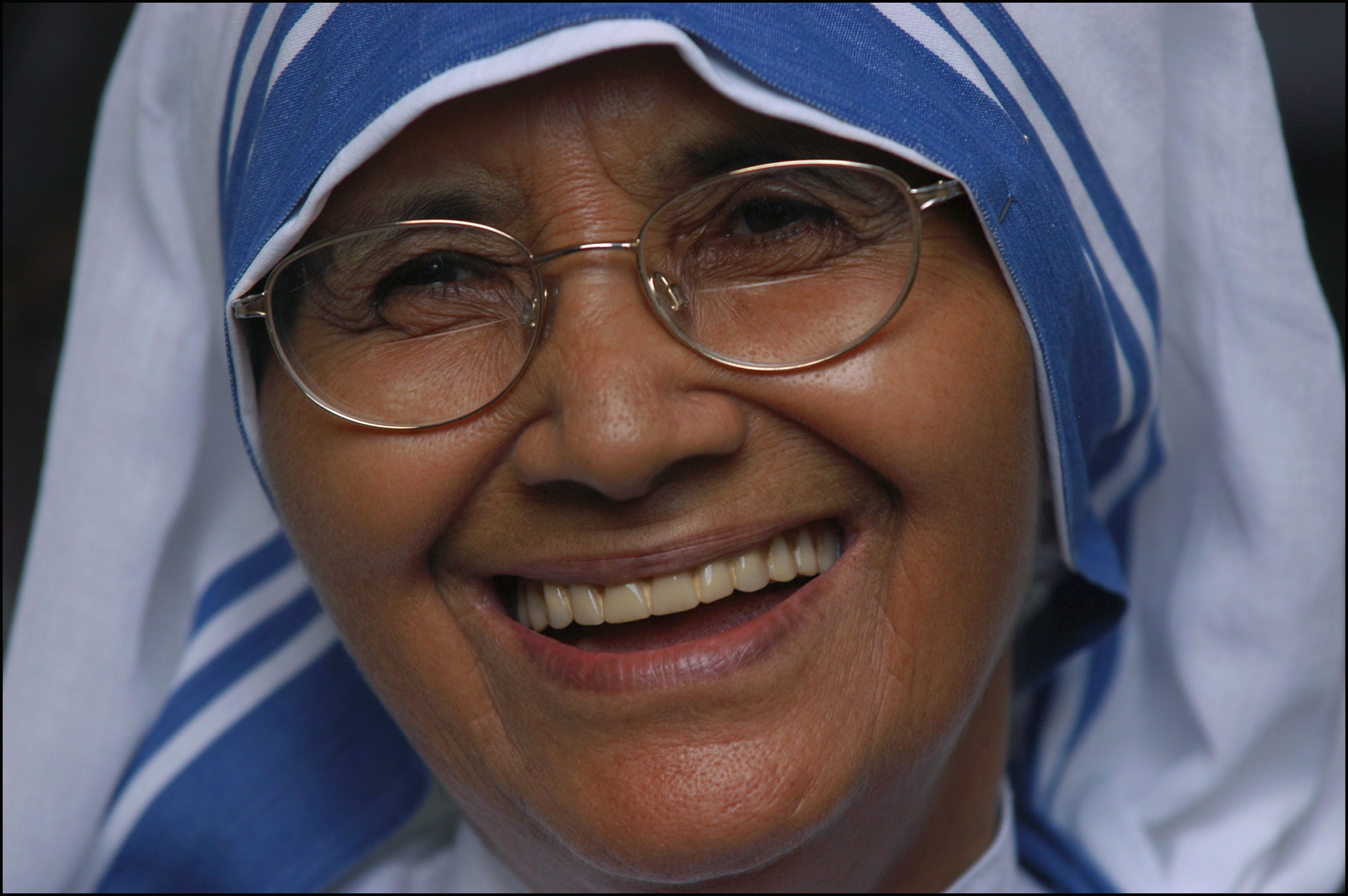 Sister Nirmala Joshi, Mother Teresa's successor as superior general of the Missionaries of Charity, in Kolkata on Sept. 1, 2003