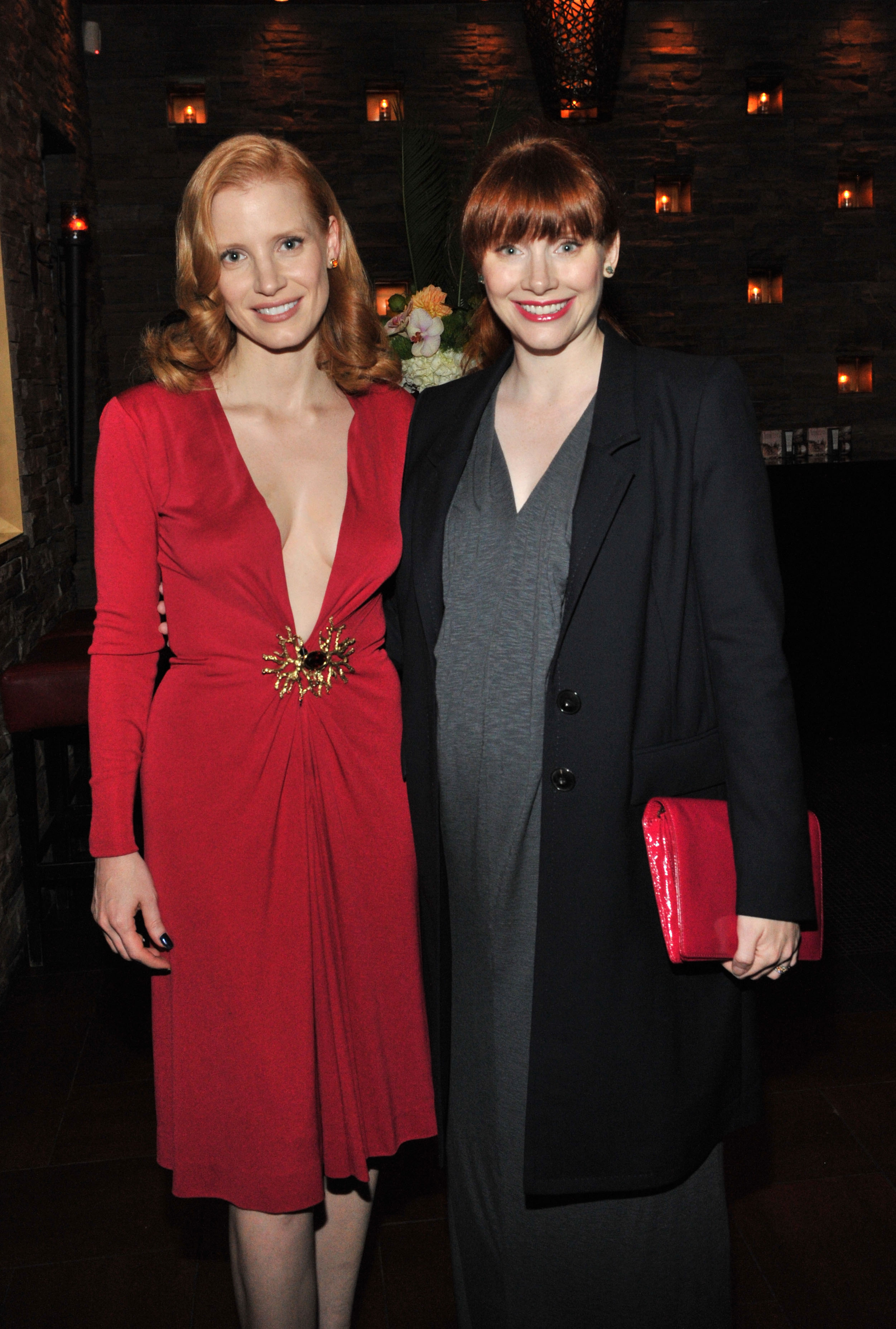 Jessica Chastain and Bryce Dallas Howard arrives at Sony Pictures Classics 20th Anniversary Party at the 2011 Toronto International Film Festival on Sept. 11, 2011 in Toronto.