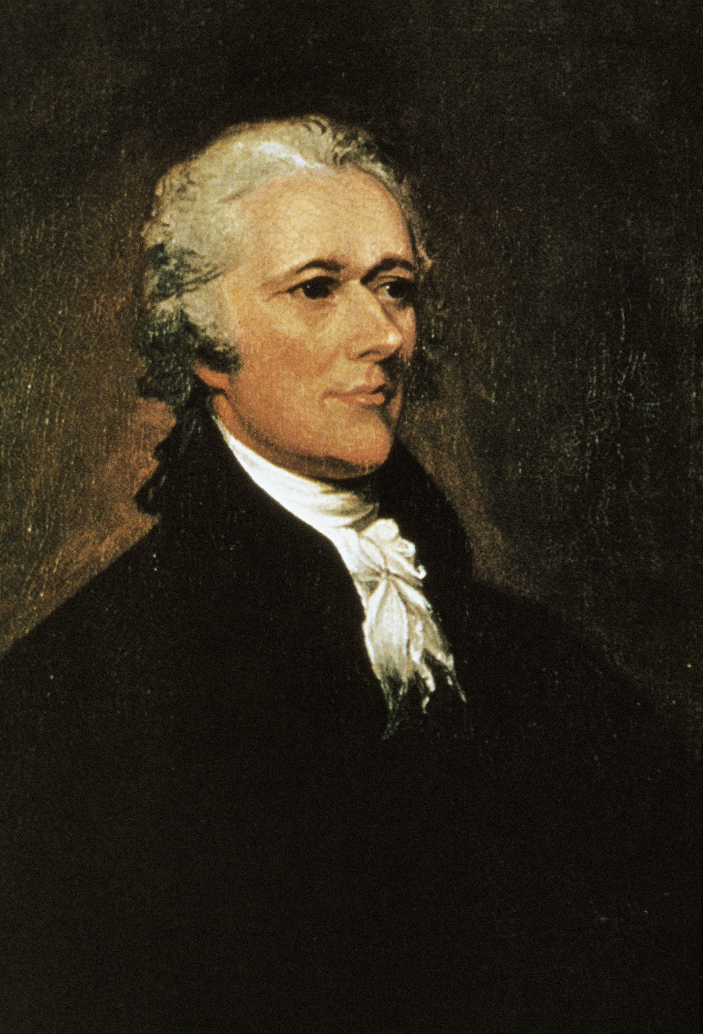 Portrait of Alexander Hamilton (1757-1804), American politician. Painting by John Trumbull (1756-1843).