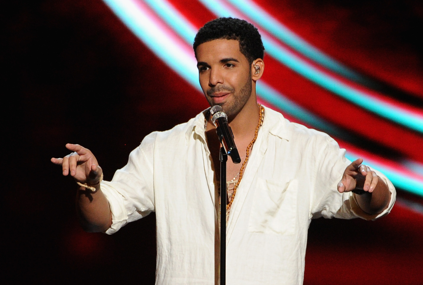Host Drake performs onstage during the 2014 ESPYS at Nokia Theatre L.A. Live on July 16, 2014 in Los Angeles, California.