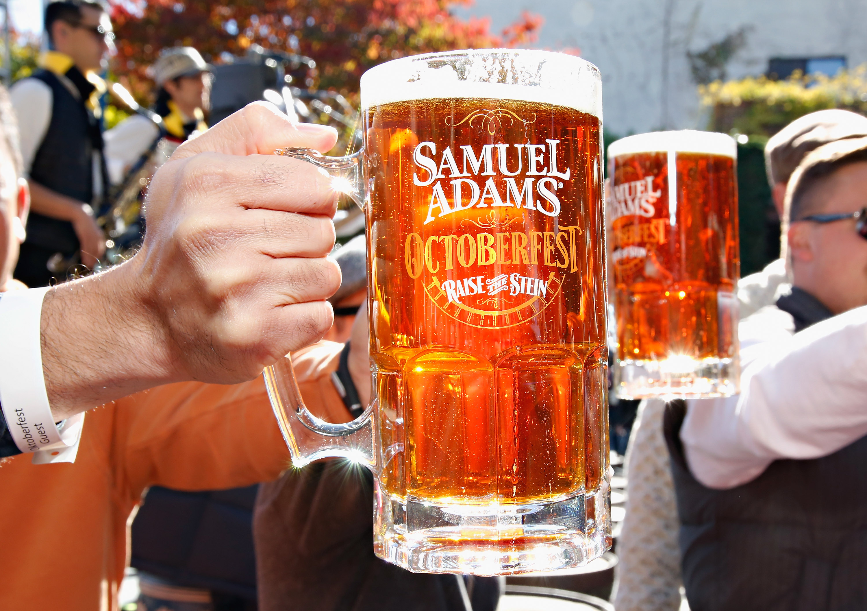 A view of Samuel Adams at Oktoberfest sponsored by The Village Voice presented by Jagermeister hosted by Andrew Zimmern during the Food Network New York City Wine & Food Festival Presented By FOOD & WINE at Studio Square on October 19, 2014 in New York City.