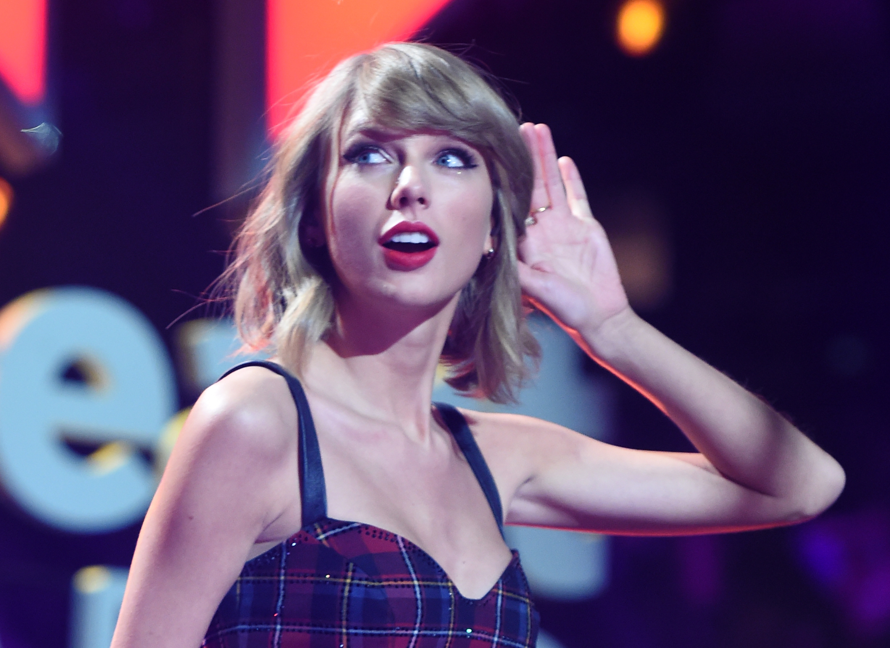 Taylor Swift performs onstage during iHeartRadio Jingle Ball 2014, hosted by Z100 New York and presented by Goldfish Puffs at Madison Square Garden on December 12, 2014 in New York City.
