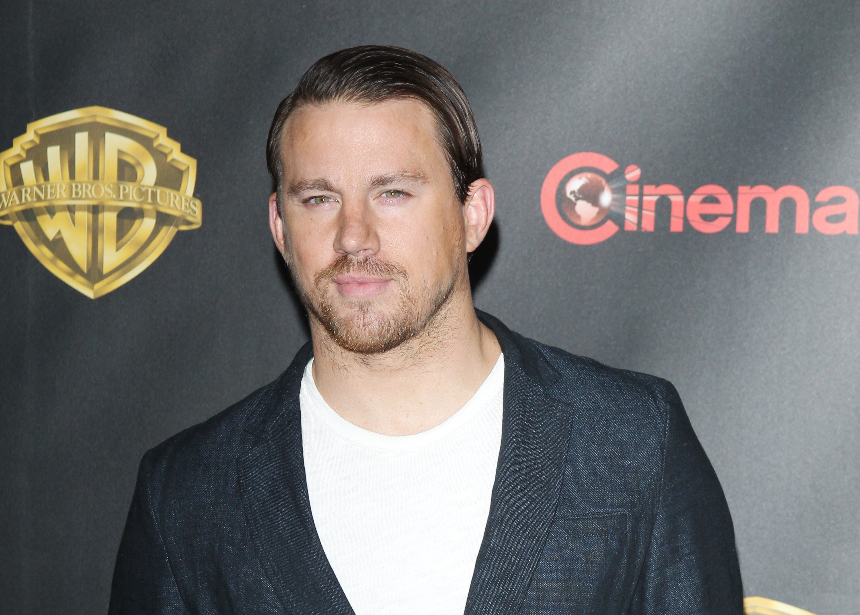LAS VEGAS, NV - APRIL 21:  Channing Tatum arrives at 2015 CinemaCon - Warner Bros. Presents The Big Picture held at Caesars Palace Resorts and Casino on April 21, 2015 in Las Vegas, Nevada.  (Photo by Michael Tran/FilmMagic)