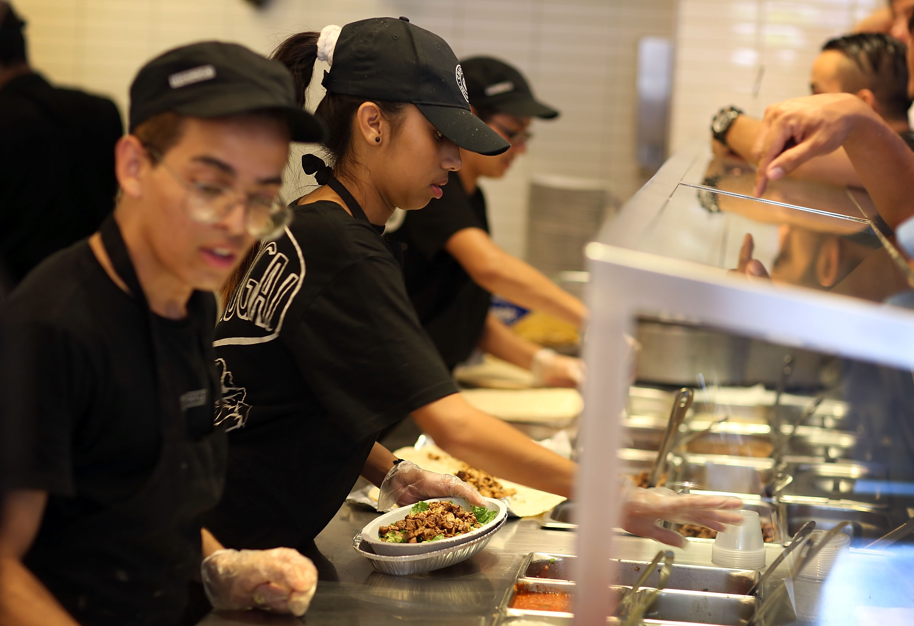 Chipotle restaurant workers.