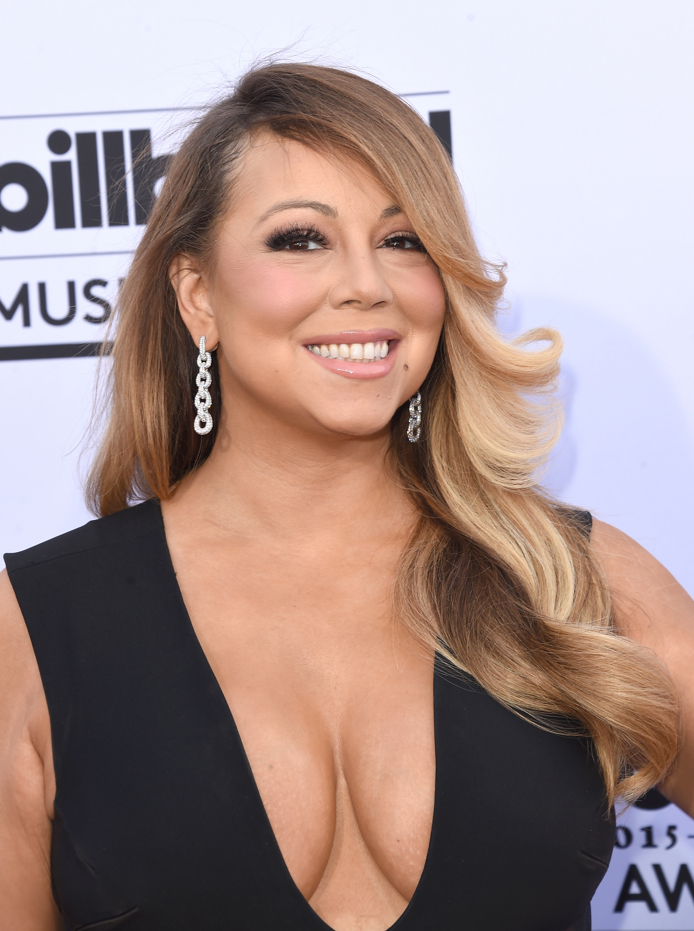 Mariah Carey arrives at the 2015 Billboard Music Awards at MGM Garden Arena on May 17, 2015 in Las Vegas.