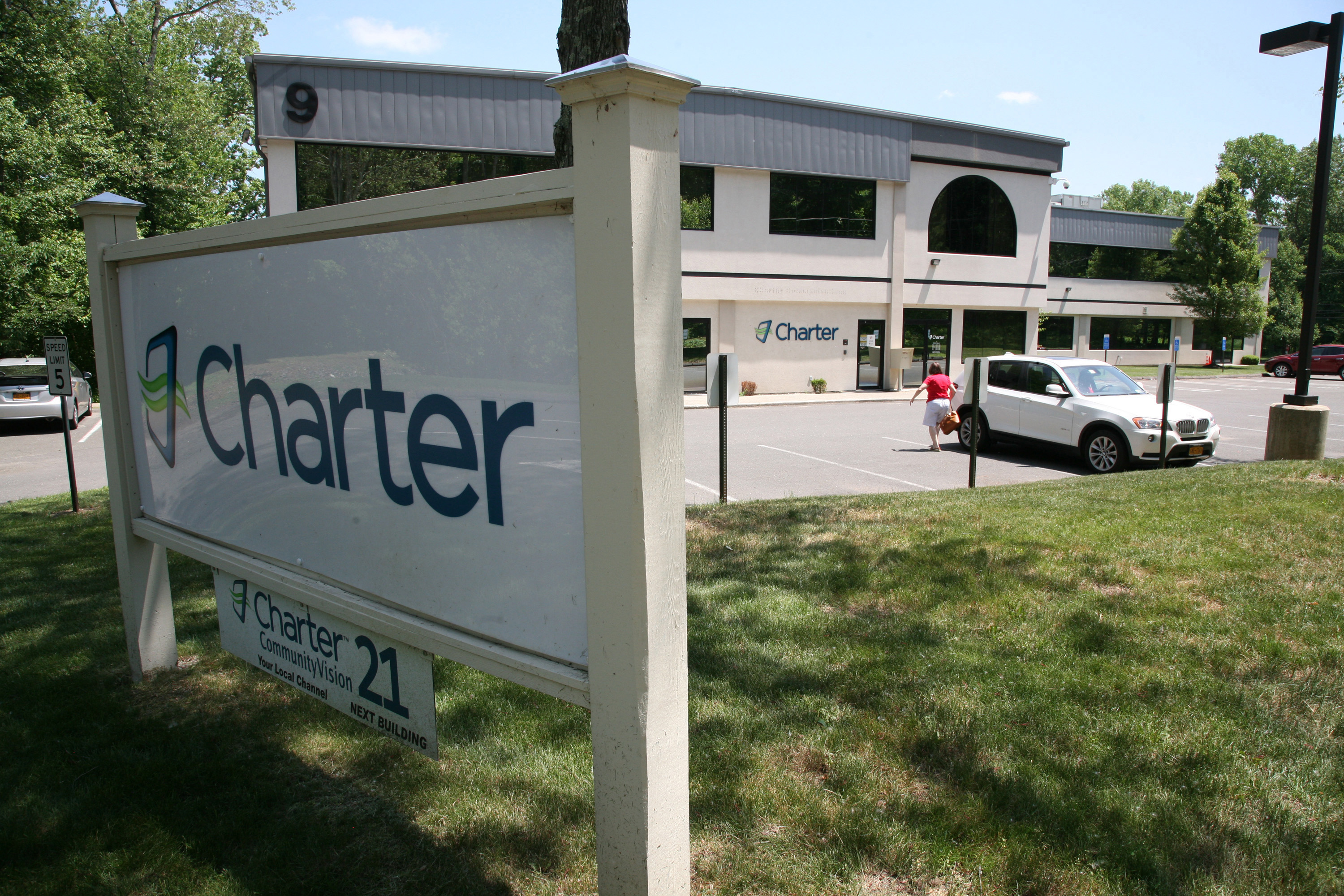 Charter Communications's office in Newtown, Connecticut is seen May 30, 2015.