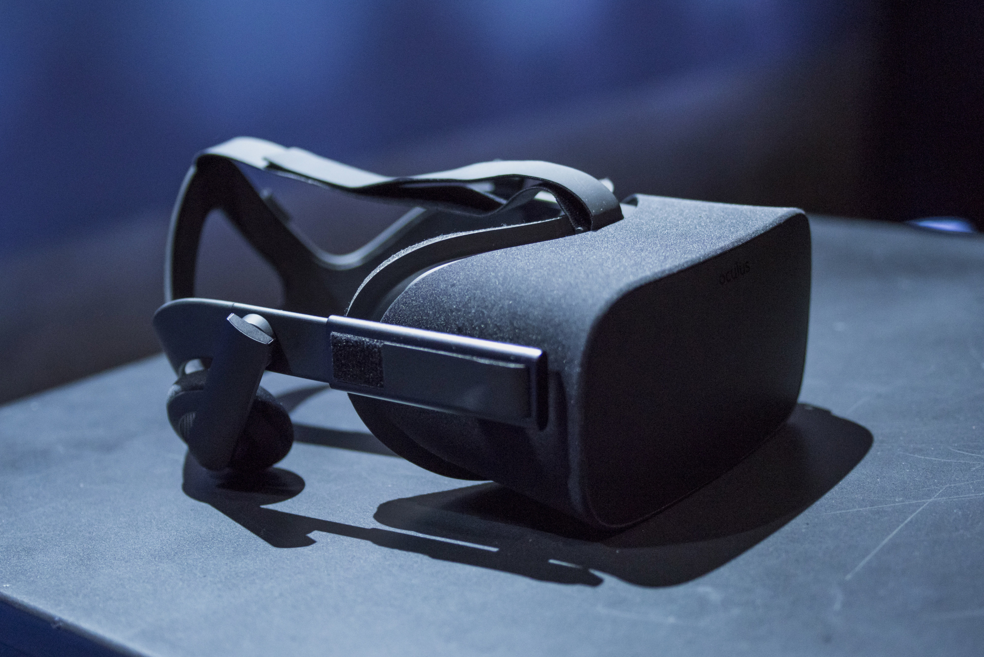 The Oculus Rift is arranged for a photograph during the Oculus VR Inc.  Step Into The Rift  event in San Francisco, California, U.S., on Thursday, June 11, 2015.