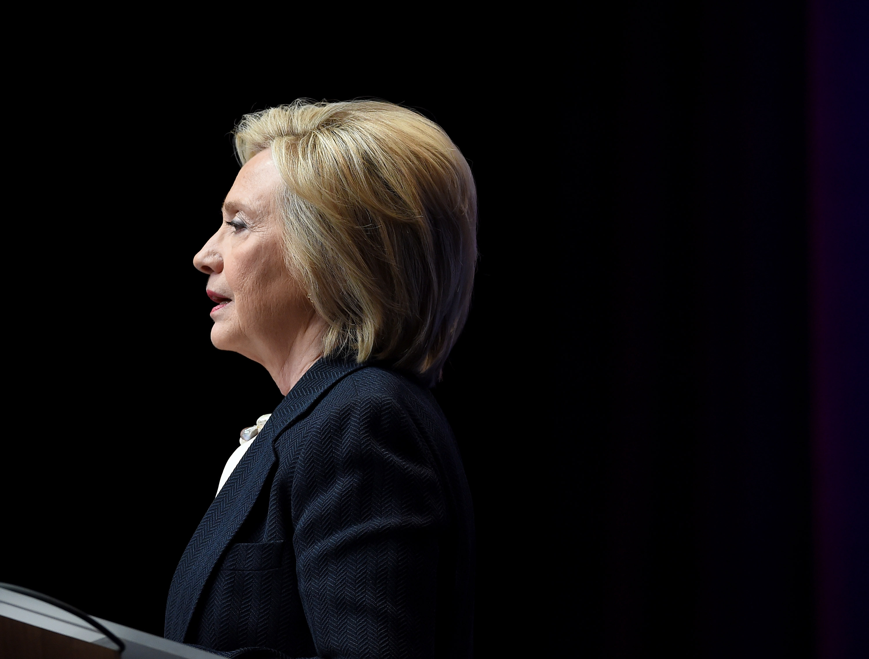 Democratic presidential candidate and former U.S. Secretary of State Hillary Clinton speaks at the National Association of Latino Elected and Appointed Officials' (NALEO) 32nd Annual Conference at the Aria Resort & Casino at CityCenter on June 18, 2015 in Las Vegas, Nevada.