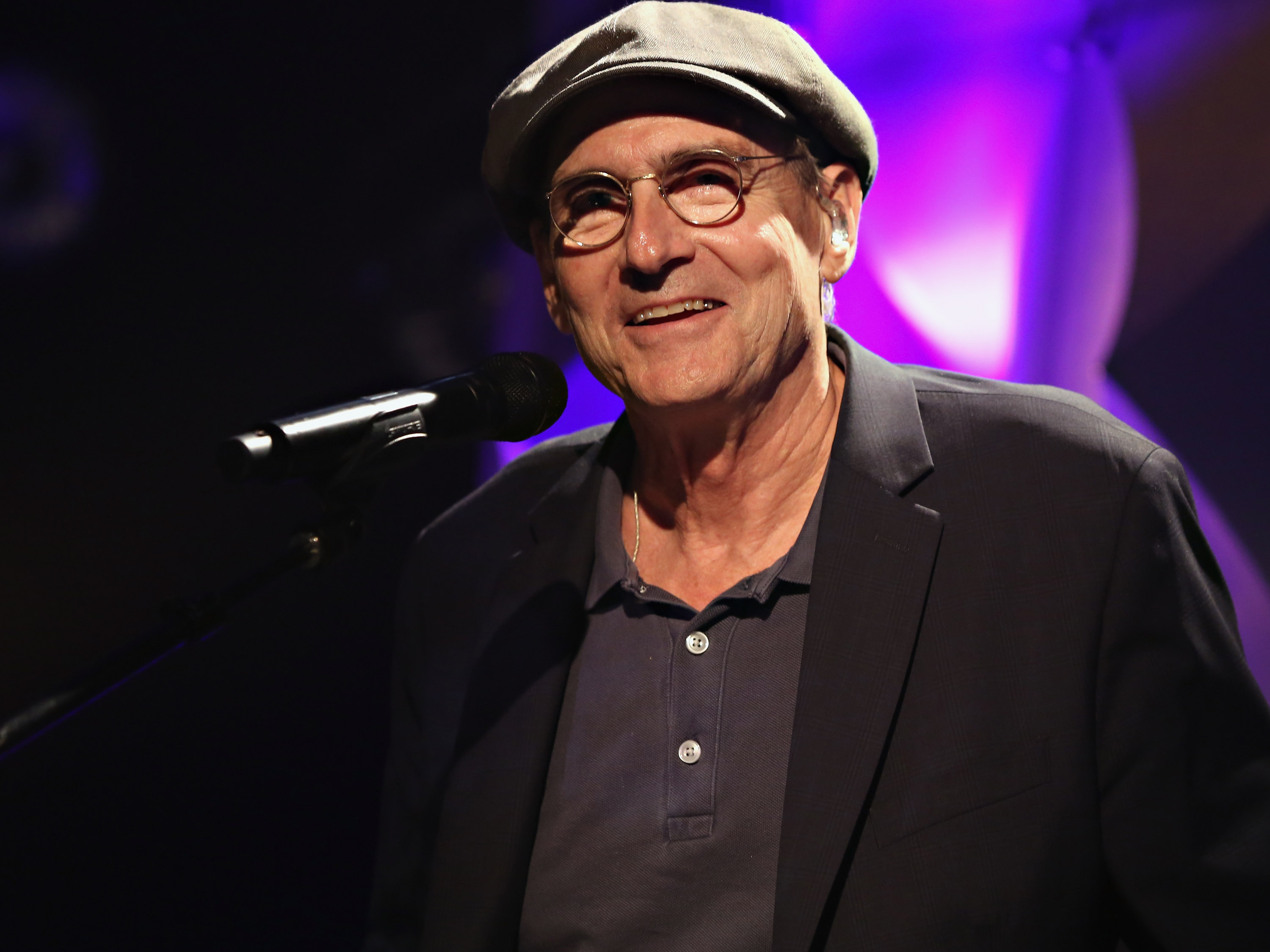 Singer-songwriter James Taylor speaks onstage during iHeartRadio ICONS with James Taylor presented by P.C. Richard & Son at iHeartRadio Theater on June 22, 2015 in New York City.