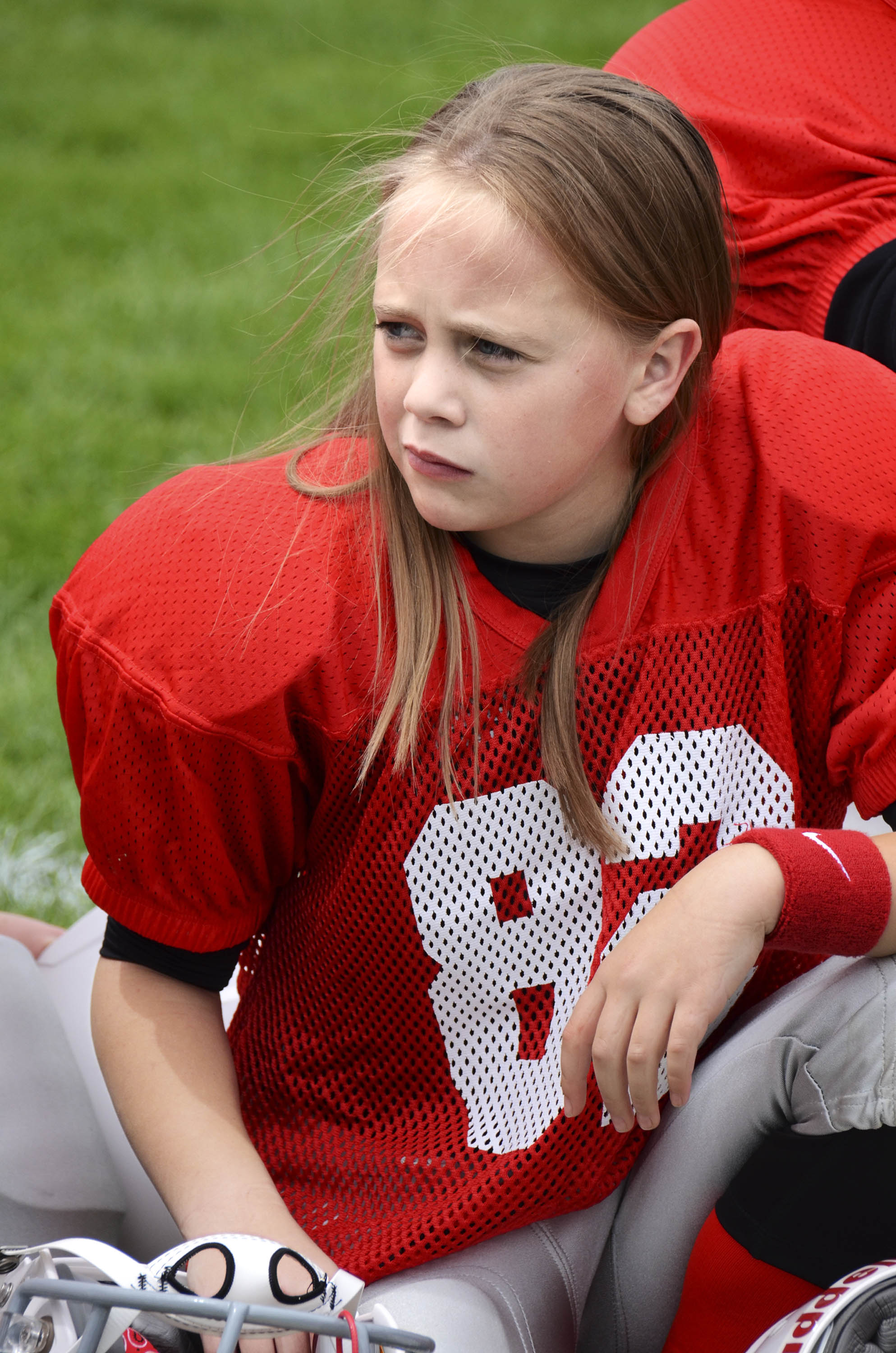 Kami Gold, 11, plays in the Utah Girls Tackle Football League, the first known full-contact all-girls league in the U.S.