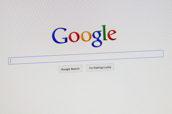 Google search page shown on a computer screen.
