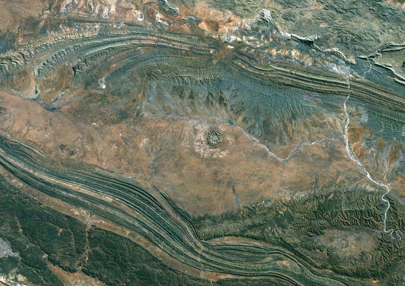 Gosses Bluff Meteor Impact Crater, Northern Territory, Australia, True Colour Satellite Image