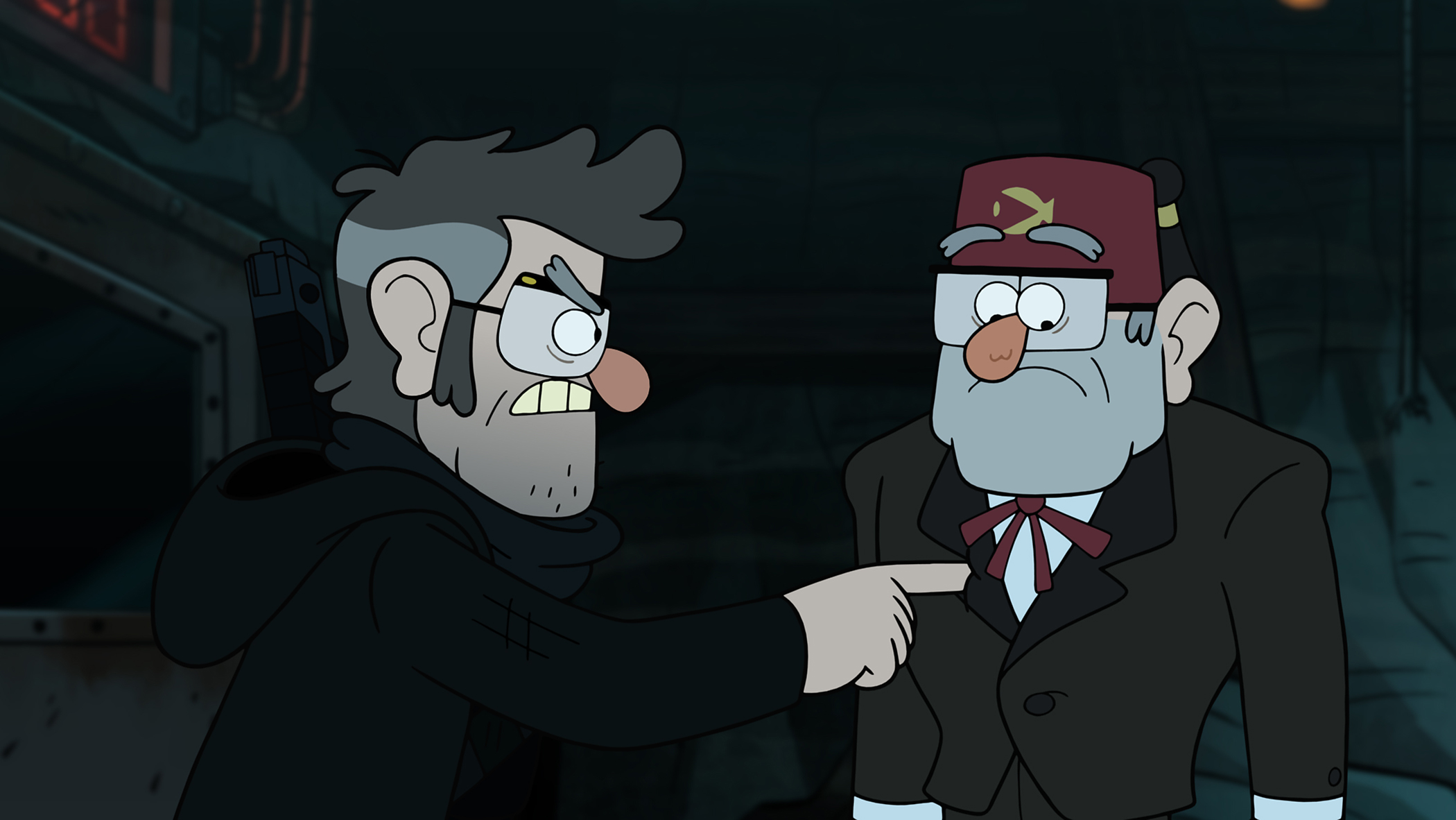 The  author  and Grunkle Stan are seen in the  A Tale of Two Stans  episode of Gravity Falls