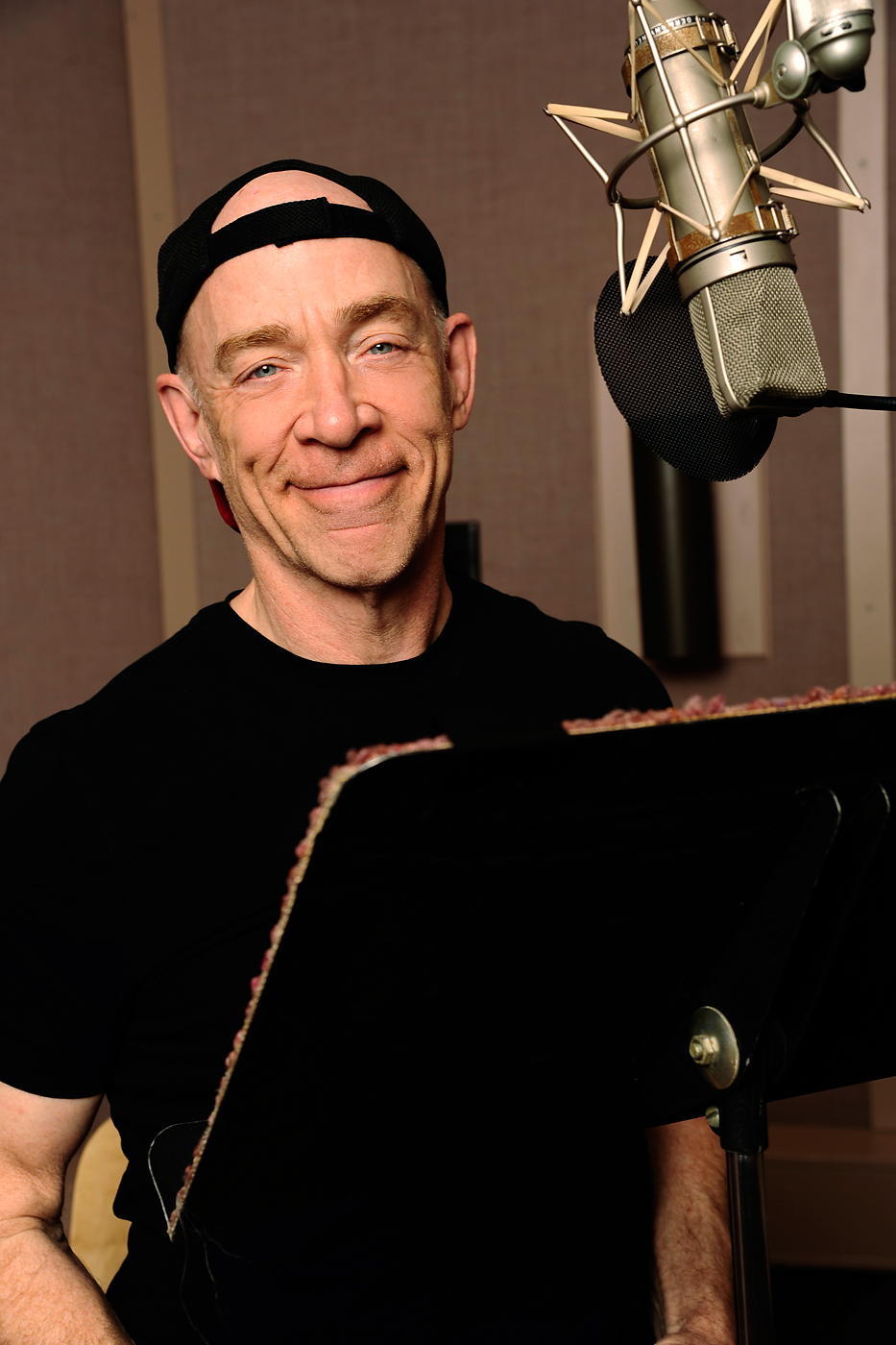 J.K. Simmons during a recording session for Gravity Falls.