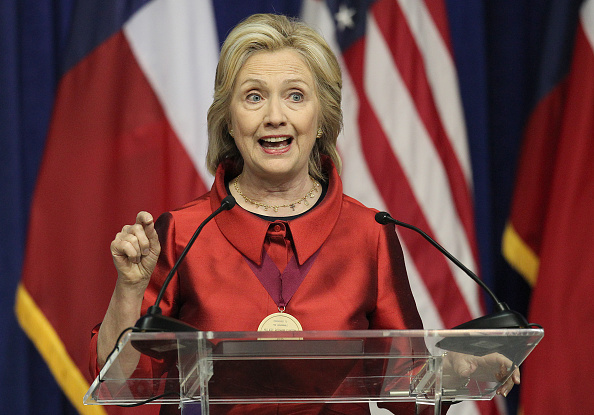 Democratic Presidential candidate Hillary Clinton speaks at the Inaugural Barbara Jordan Gold Medallion at Texas Southern University on June 4, 2015 in Houston, Texas.
