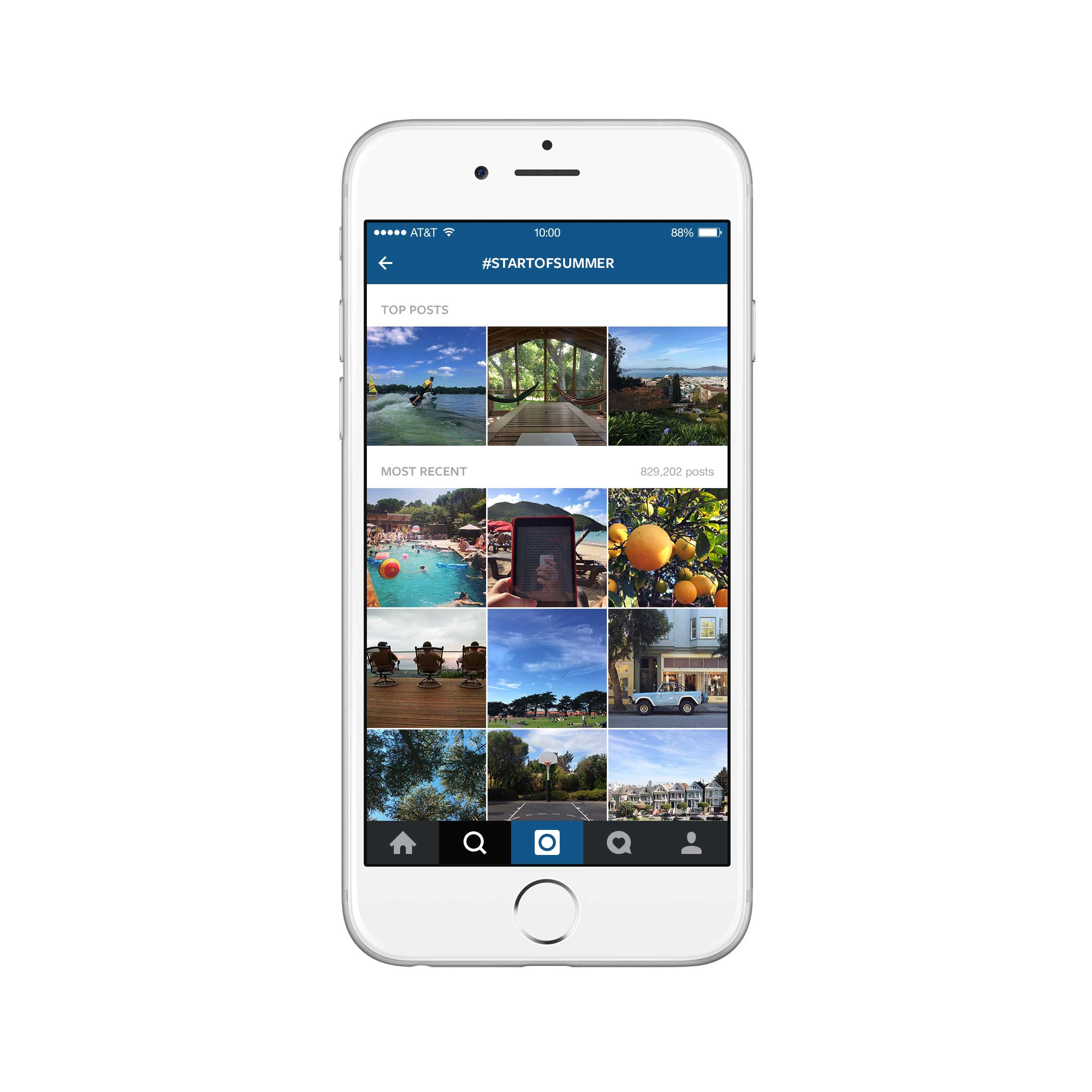 Users can see the most recent and trending photos posted for each hashtag