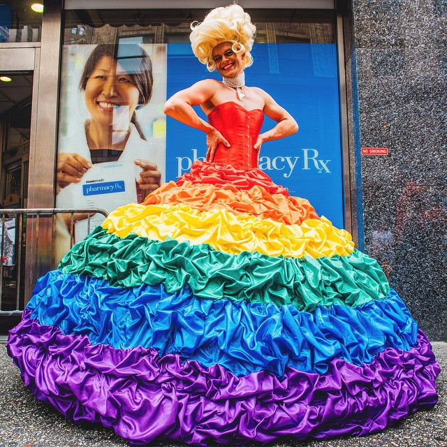 Crazy and amazing day marching in the Pride Parade,  writes Mike Gutkin of New York City on June 29, 2015.