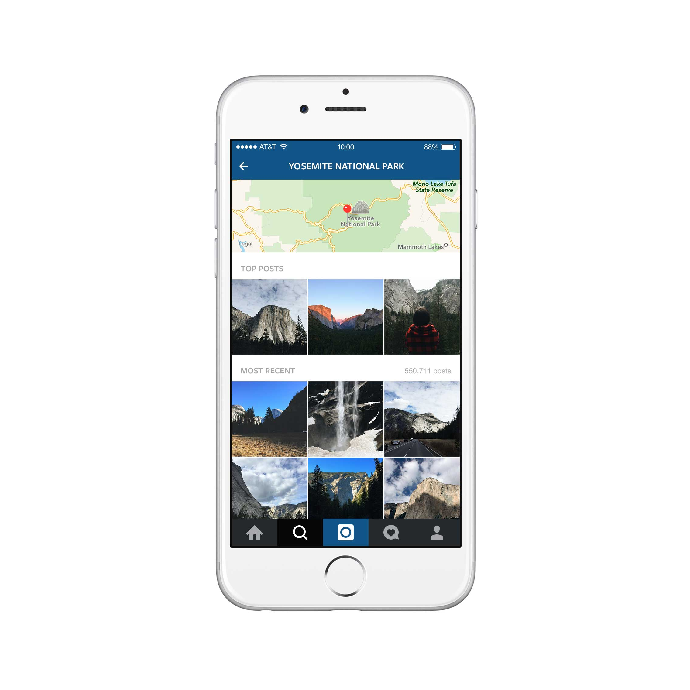 For each location, users can see the most recent and trending images posted on Instagram