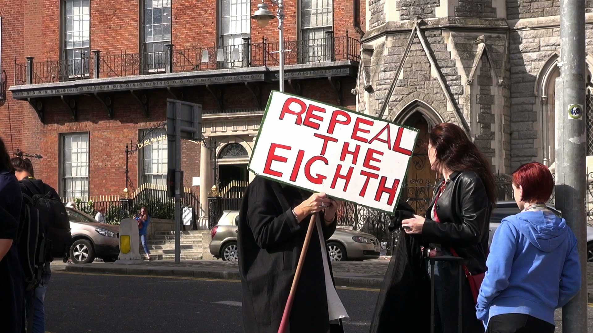 Abortion rights rally  in Dublin in 2014.