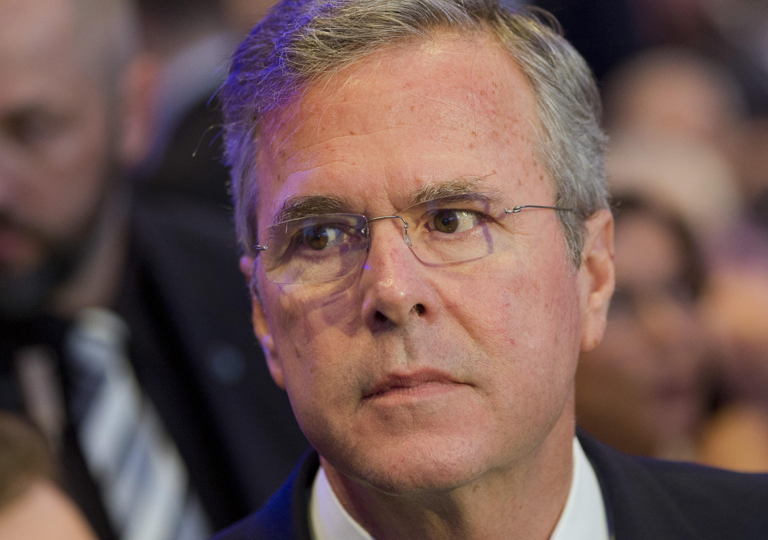Former US Governor Jeb Bush arrives for the Economic Council in Berlin on June 9, 2015.