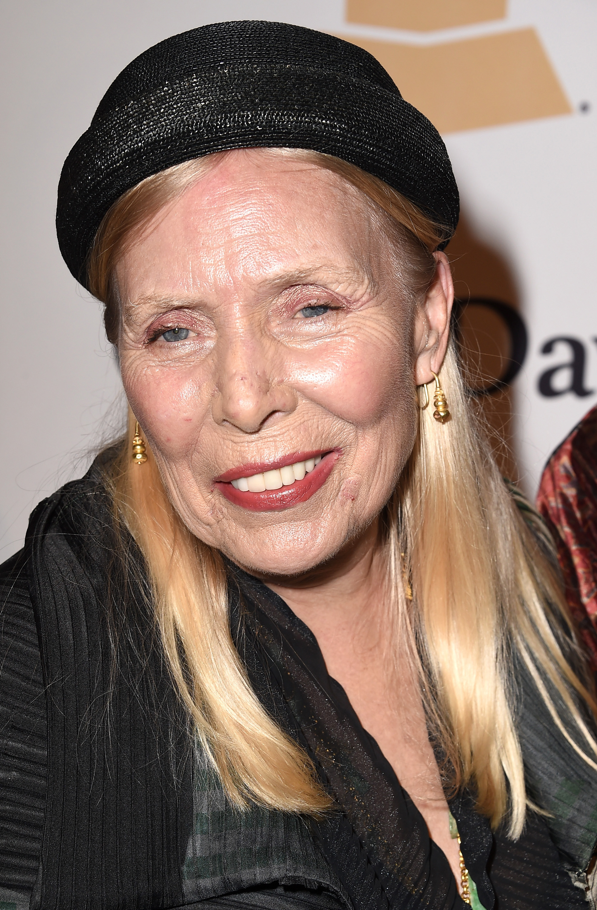 Singer-songwriter Joni Mitchell attends the Pre-Grammy Gala and Salute To Industry Icons honoring Martin Bandier in Los Angeles on February 7, 2015.