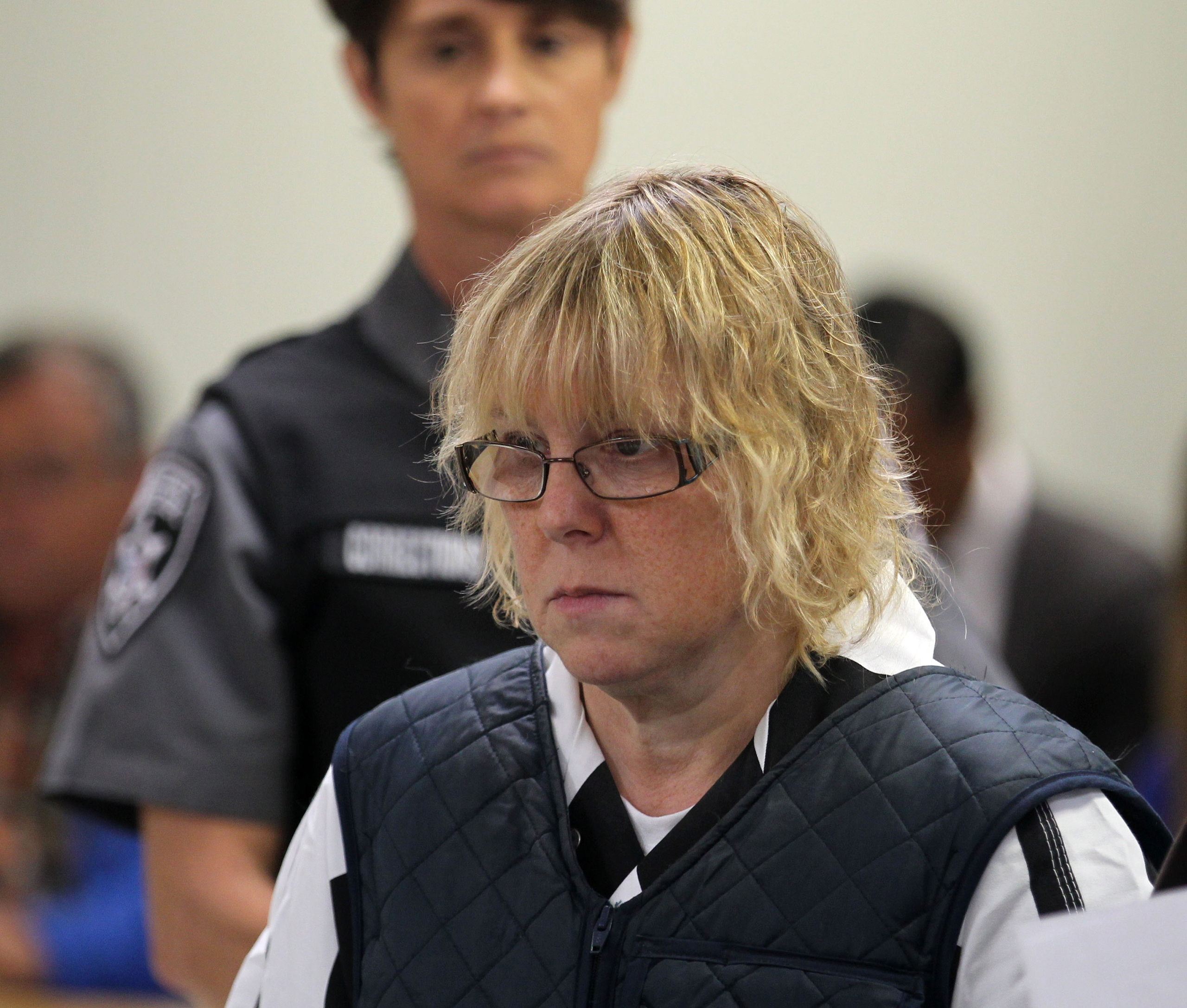 Joyce Mitchell appears before Judge Buck Rogers in Plattsburgh City Court in Plattsburgh, New York, June 15, 2015