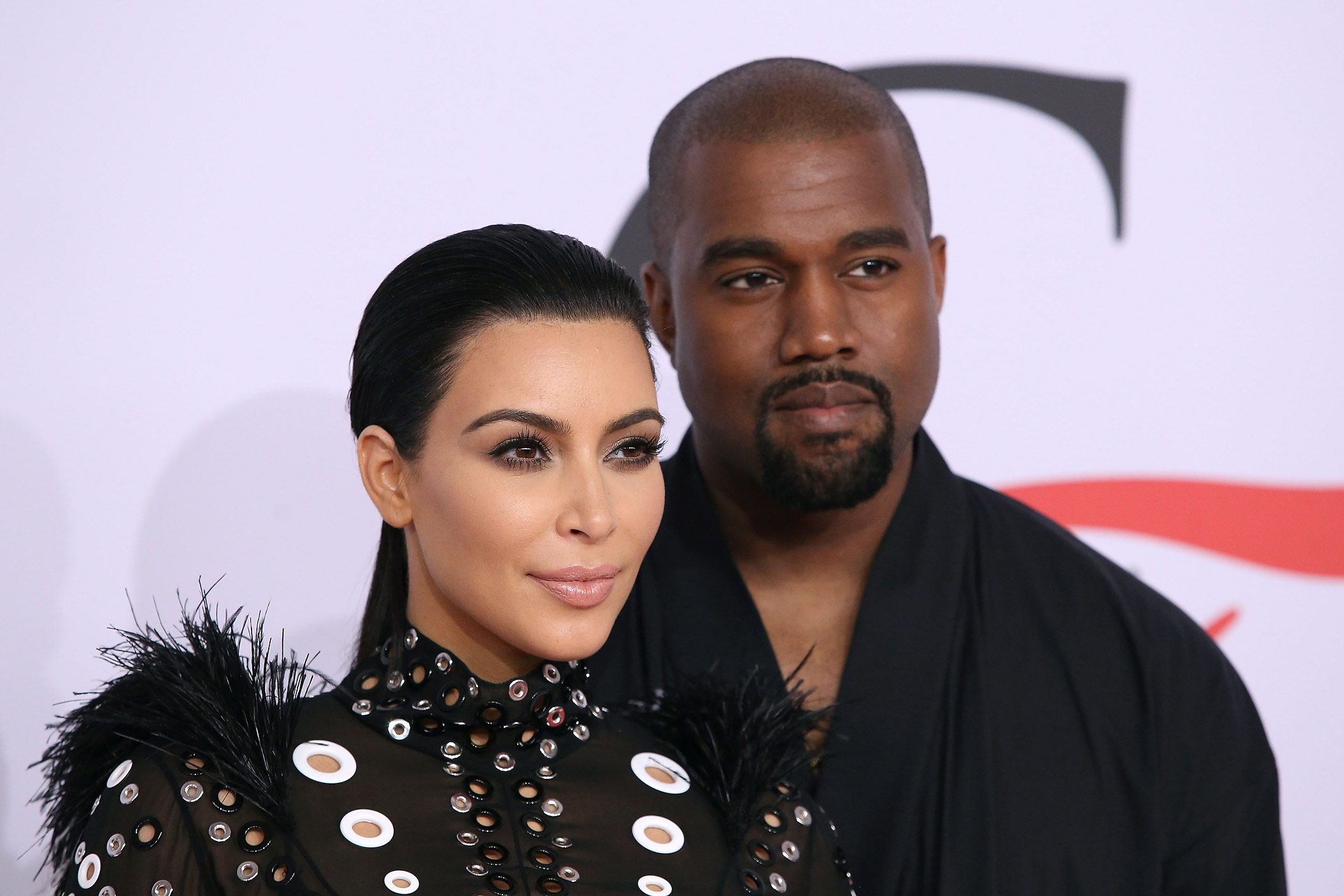 Kim Kardashian and Kanye West attend the CFDA Awards at Alice Tully Hall at Lincoln Center in New York City on June 1, 2015