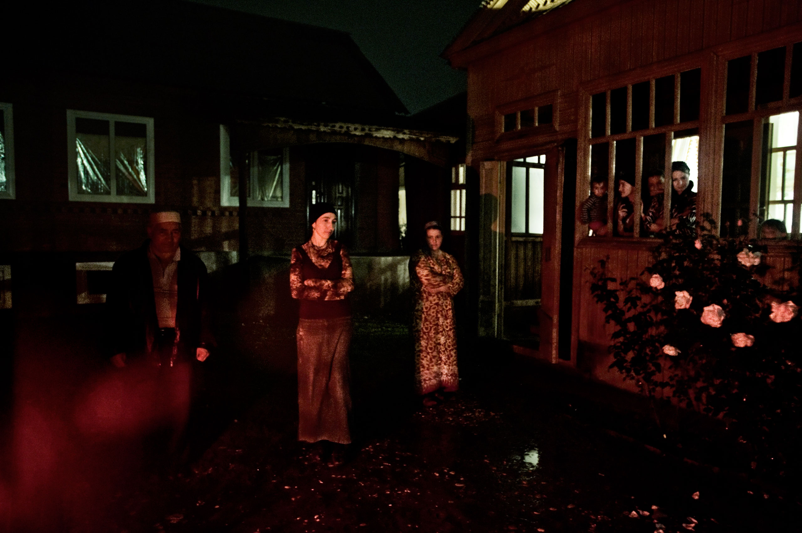 Chechen women whose family members were abducted and killed by Chechen military in Shali, Chechnya, October 2009.