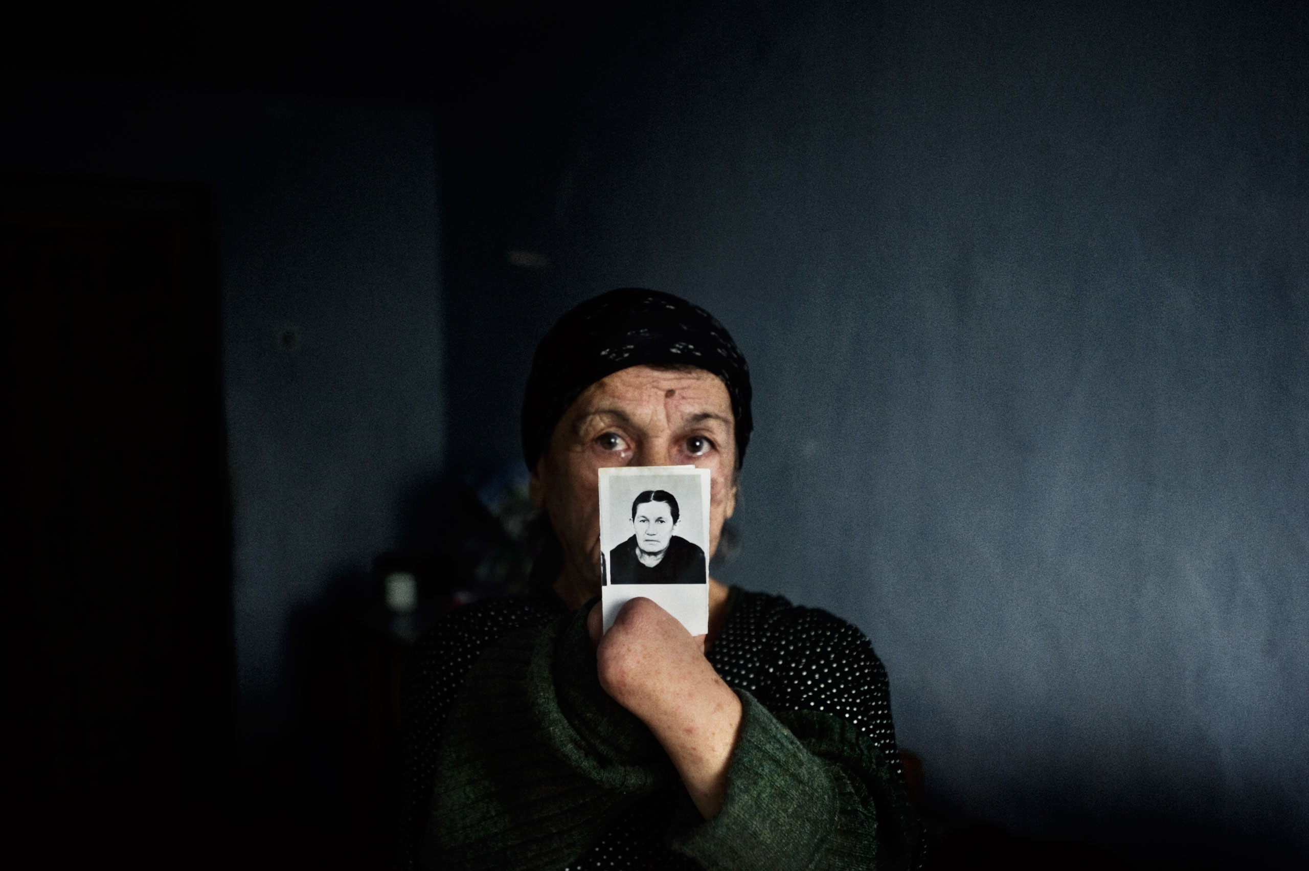 Zainap Gaisanova, an invalid and resident in a building occupied by internally displaced persons in Grozny, Chechnya, October 2009.
