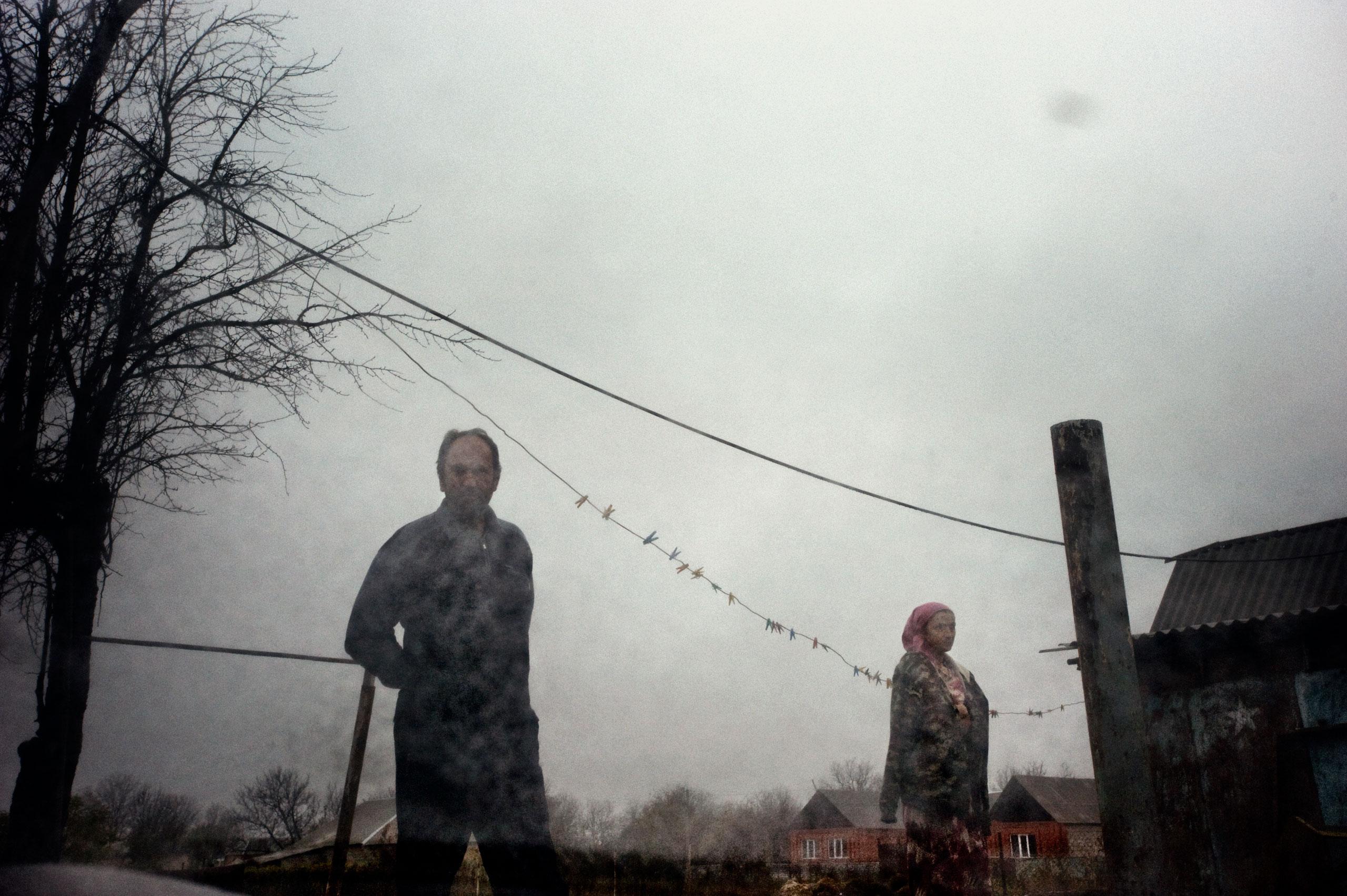 Chechen refugees in Urus Martan, Chechnya, October 2009.