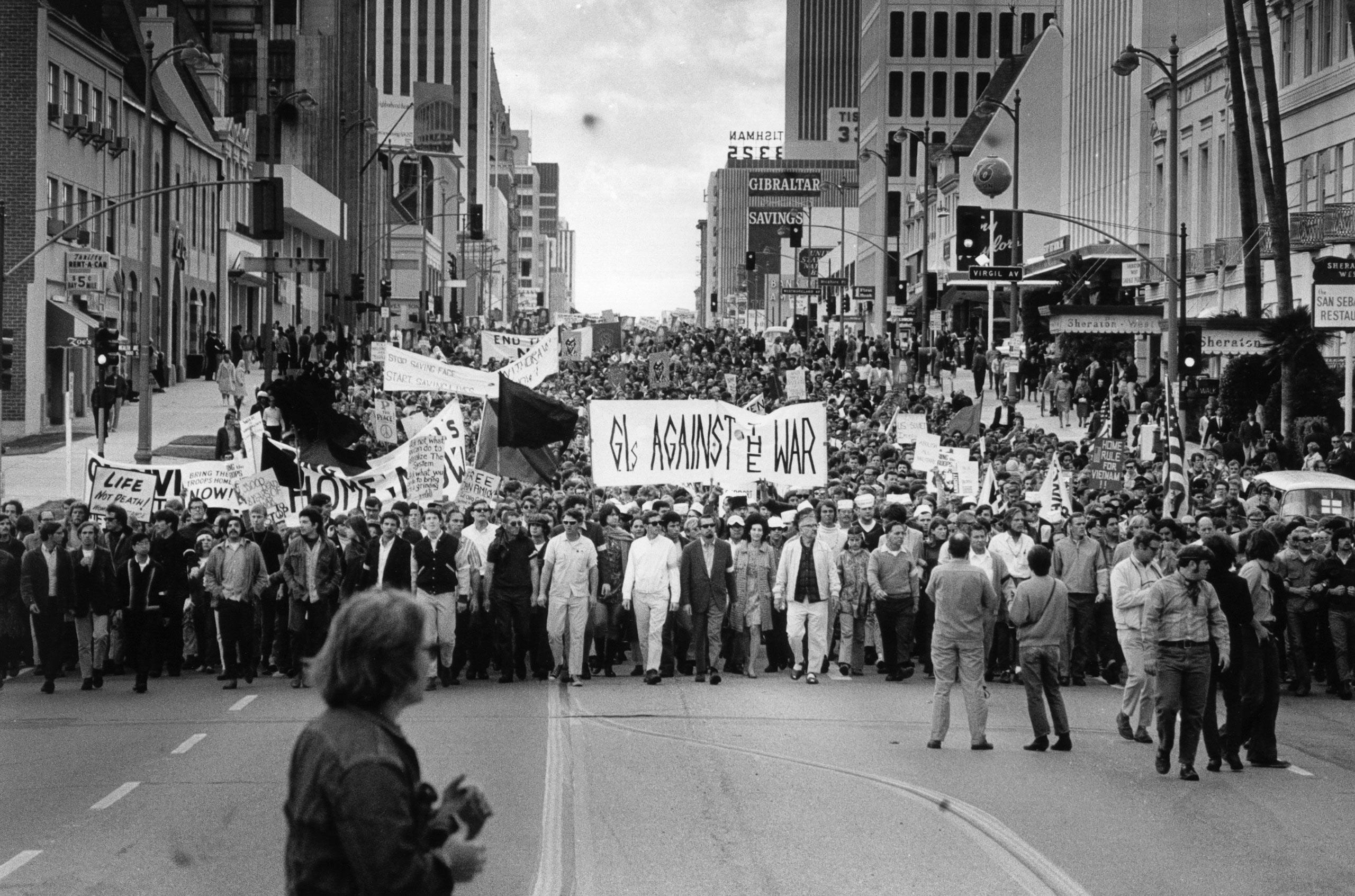 Anti-war Rallies, Century Plaza Hotel, 1969.