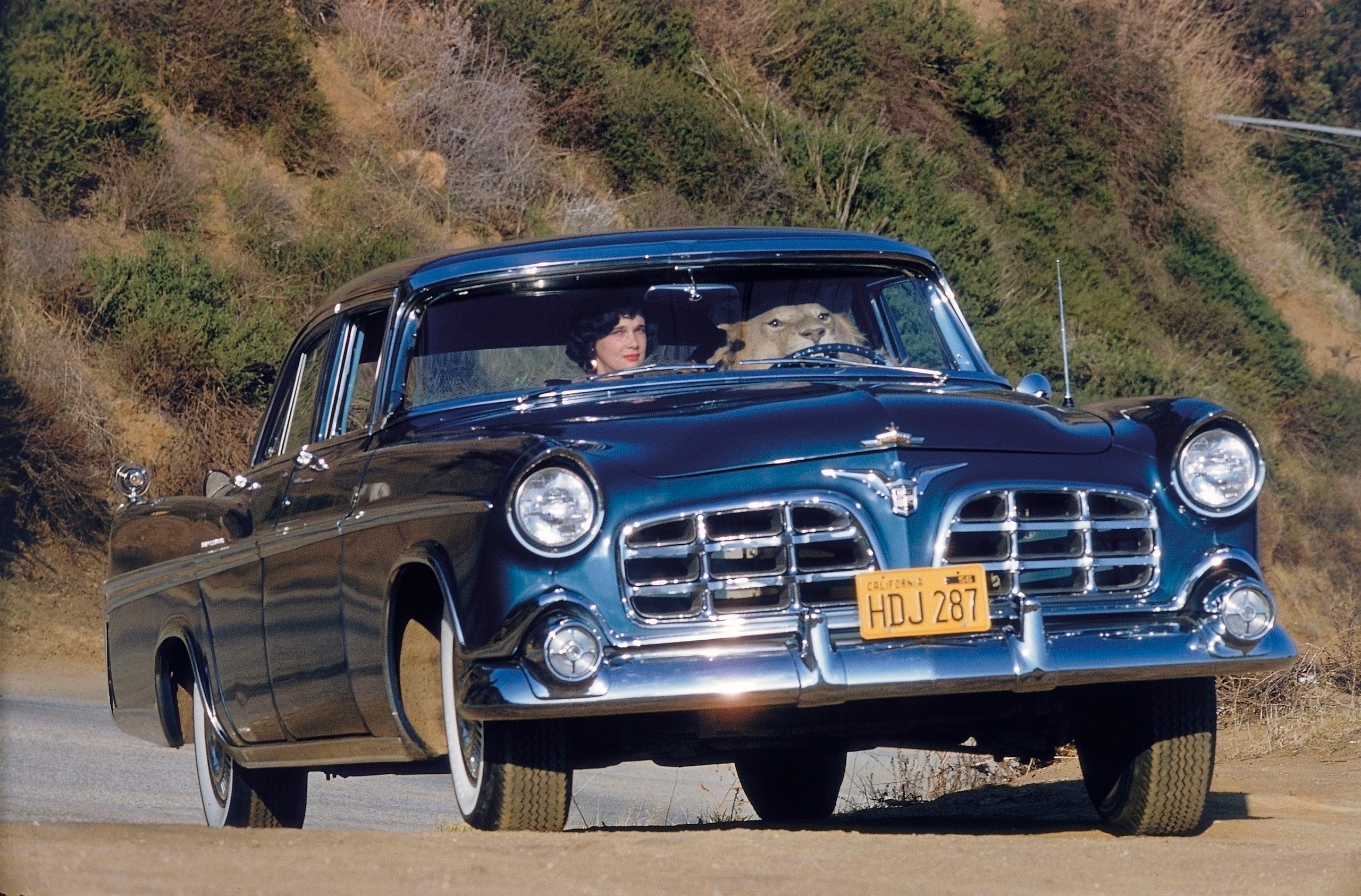 Lion in Car, 1956.