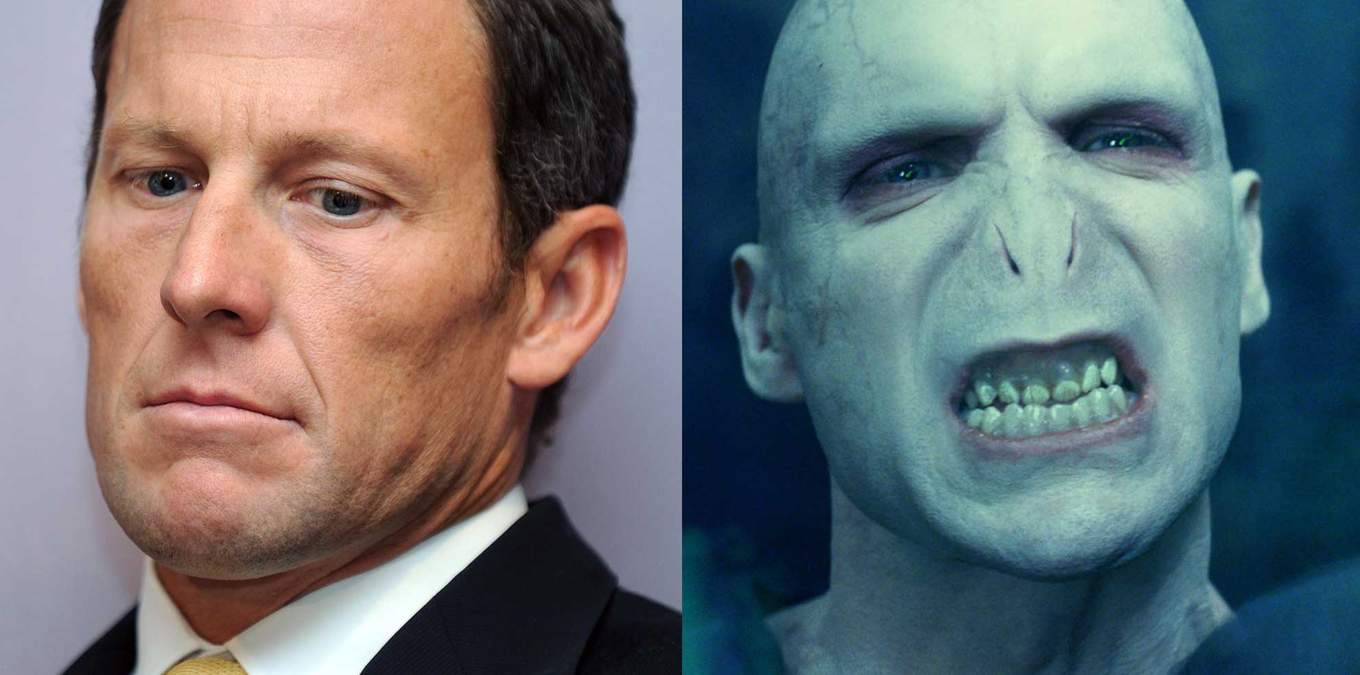 Lance Armstrong and Harry Potter character Lord Voldemort