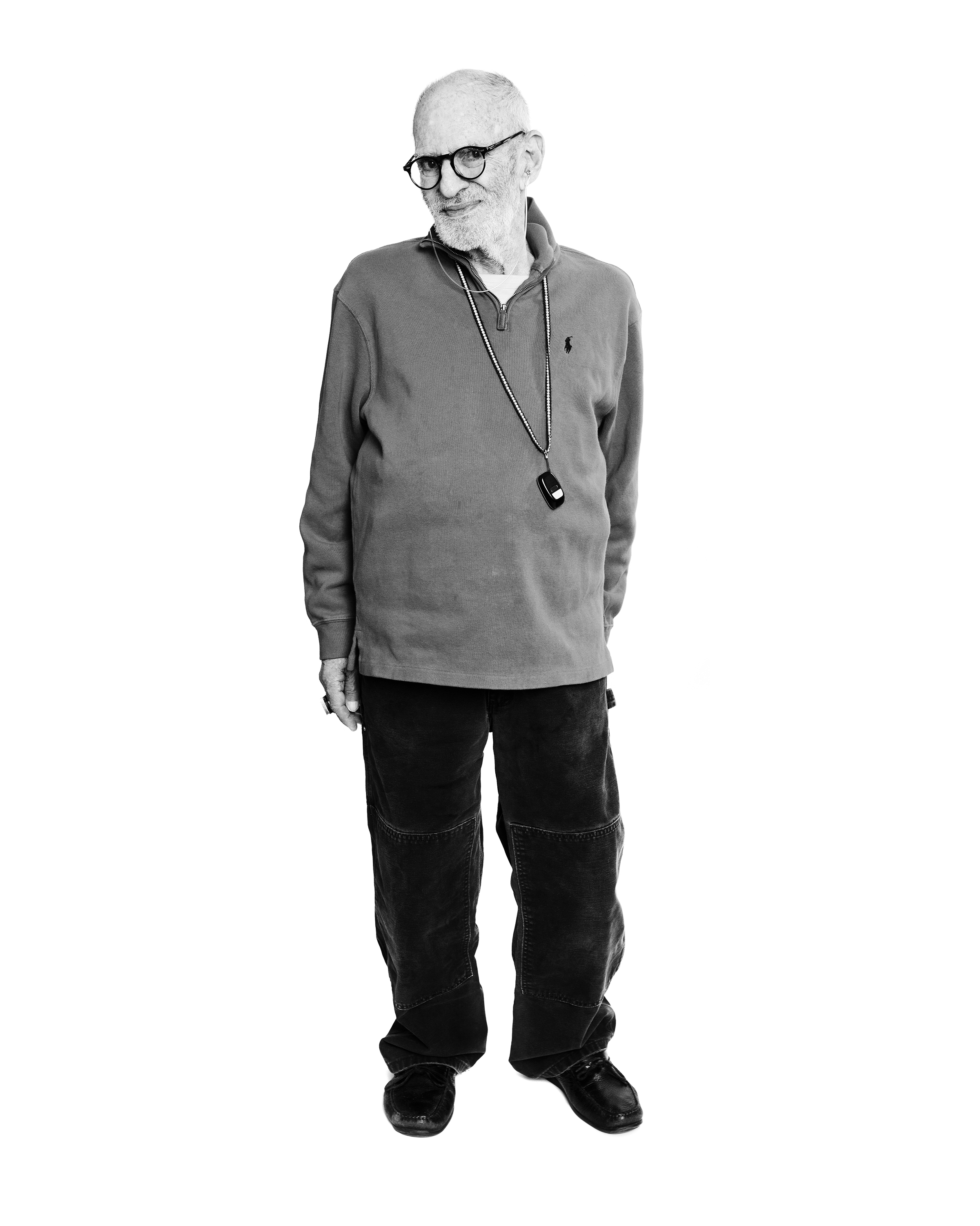 Larry Kramer photographed at his home in NYC.