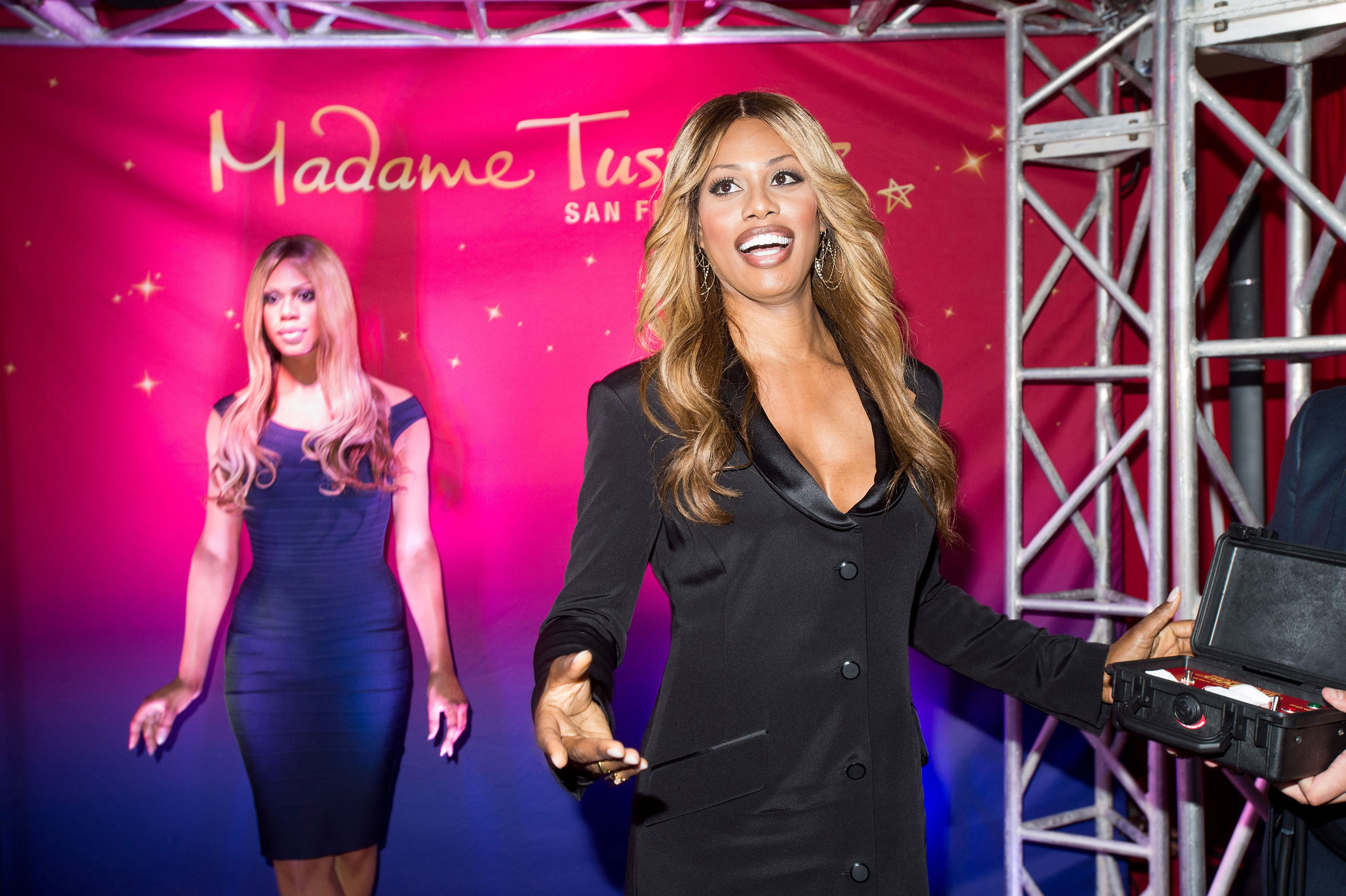Laverne Cox unveils her wax figure on  June 26, 2015 in San Francisco.