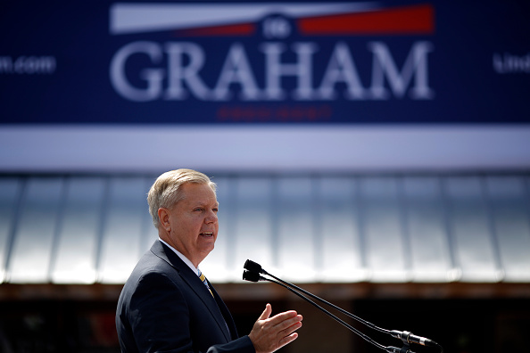 South Carolina Sen. Lindsey Graham announces he will seek the Republican Party nomination for president in Central, South Carolina, on June 1, 2015.