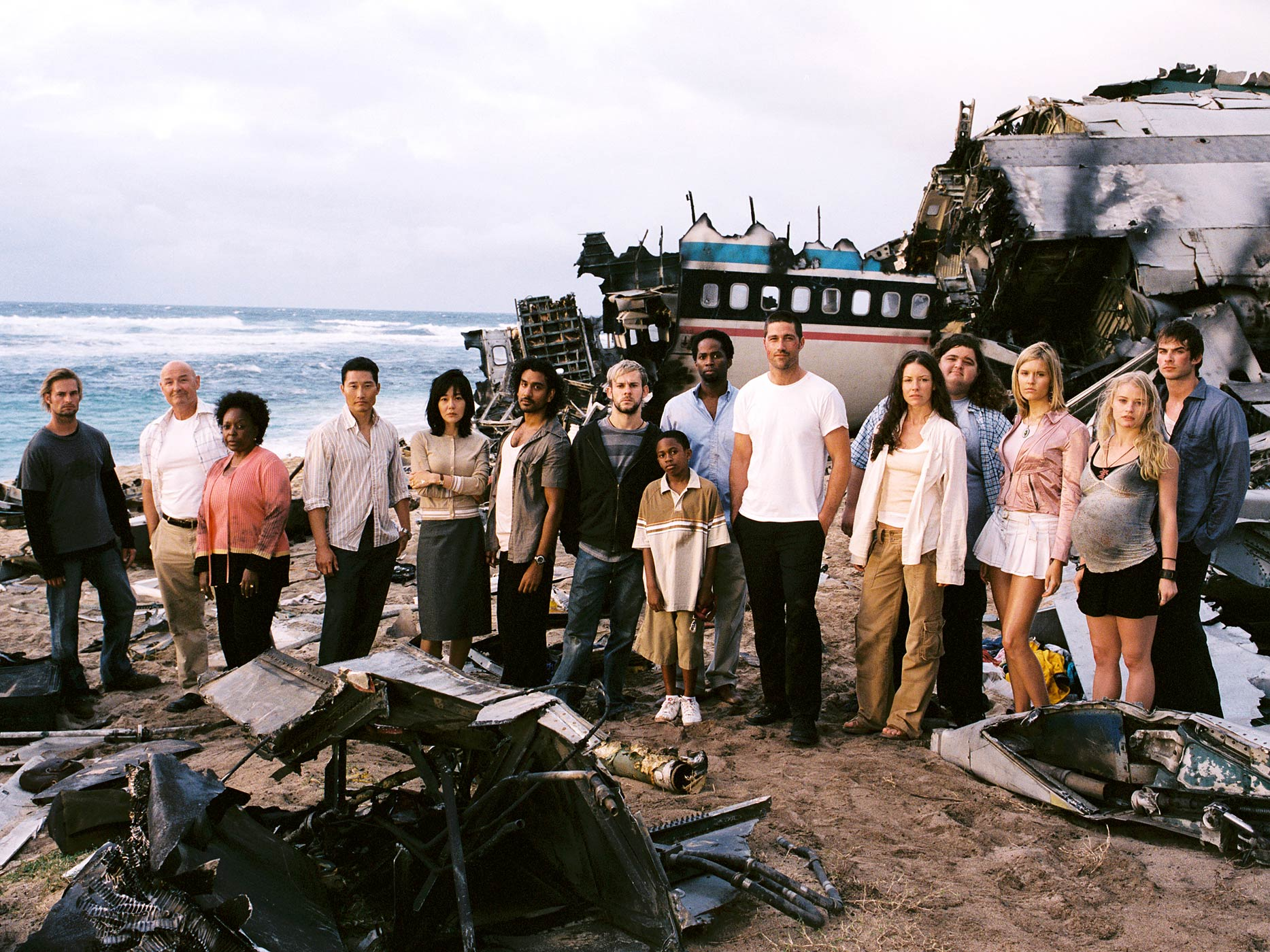 The cast of the first season of Lost