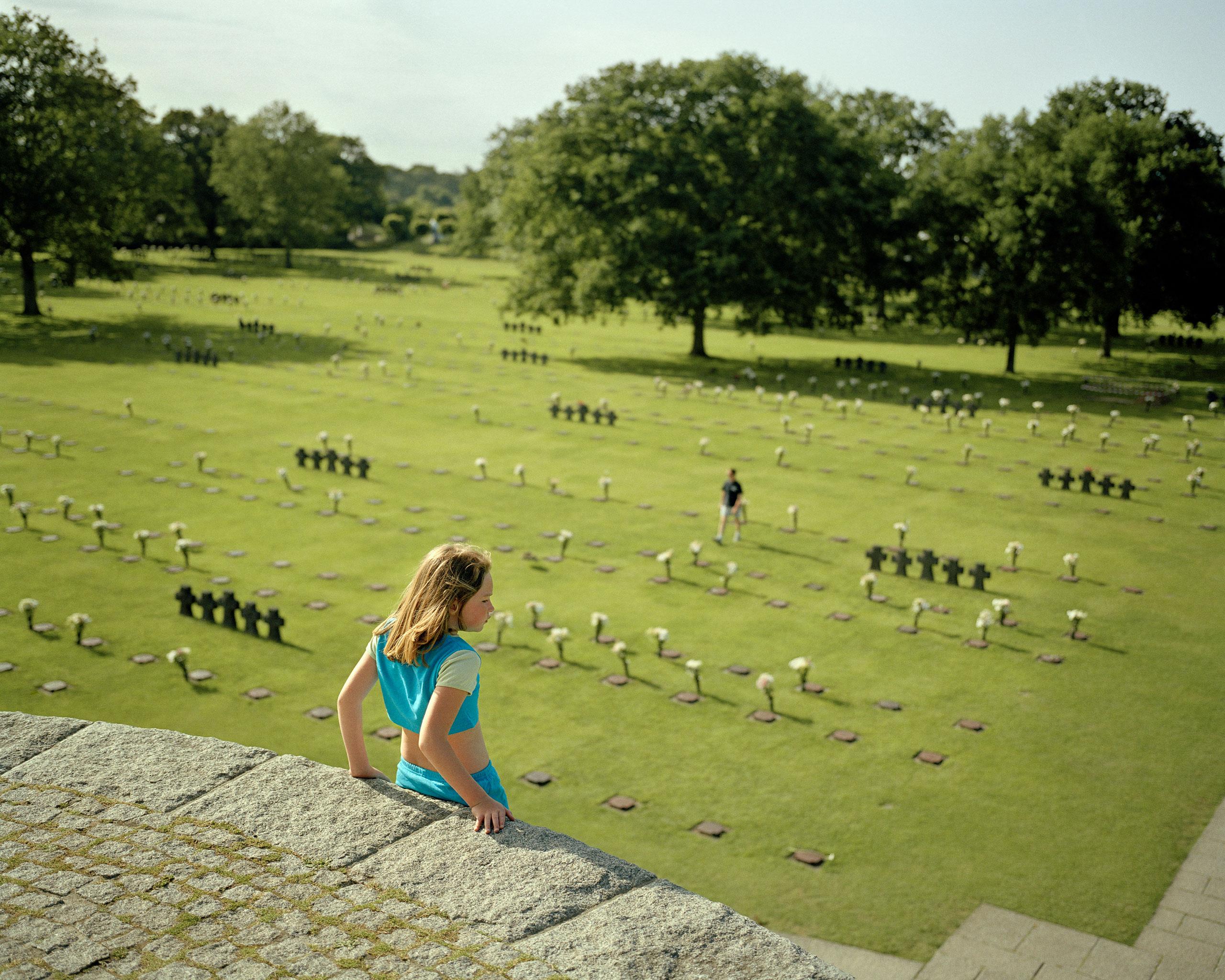 La Cambe, 60th anniversary of D-Day, 2004German military cemetery at La Cambe.