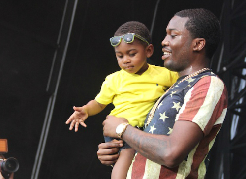 Meek Mill with his son.