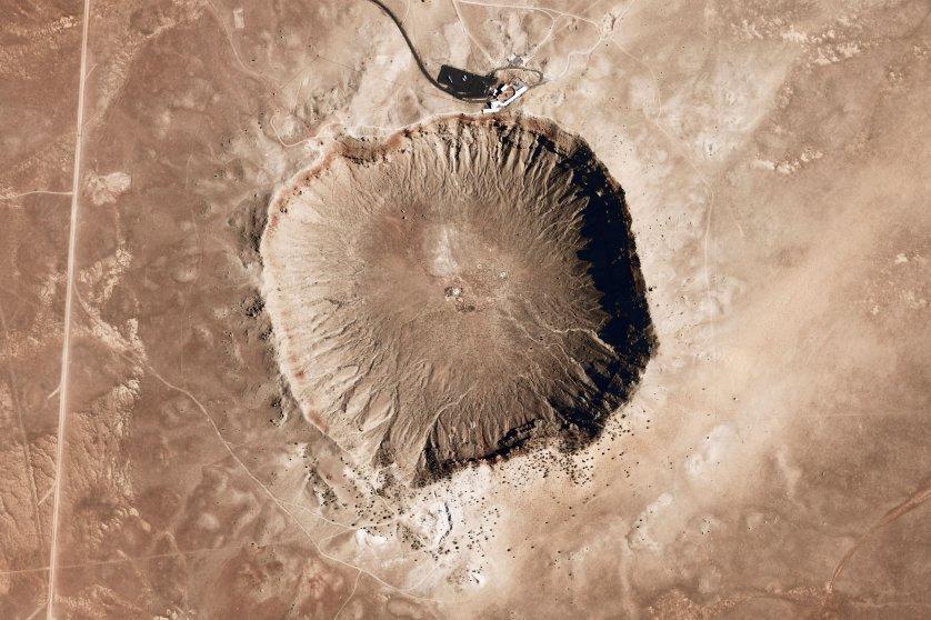 Barringer impact structure meteor crater Arizona
